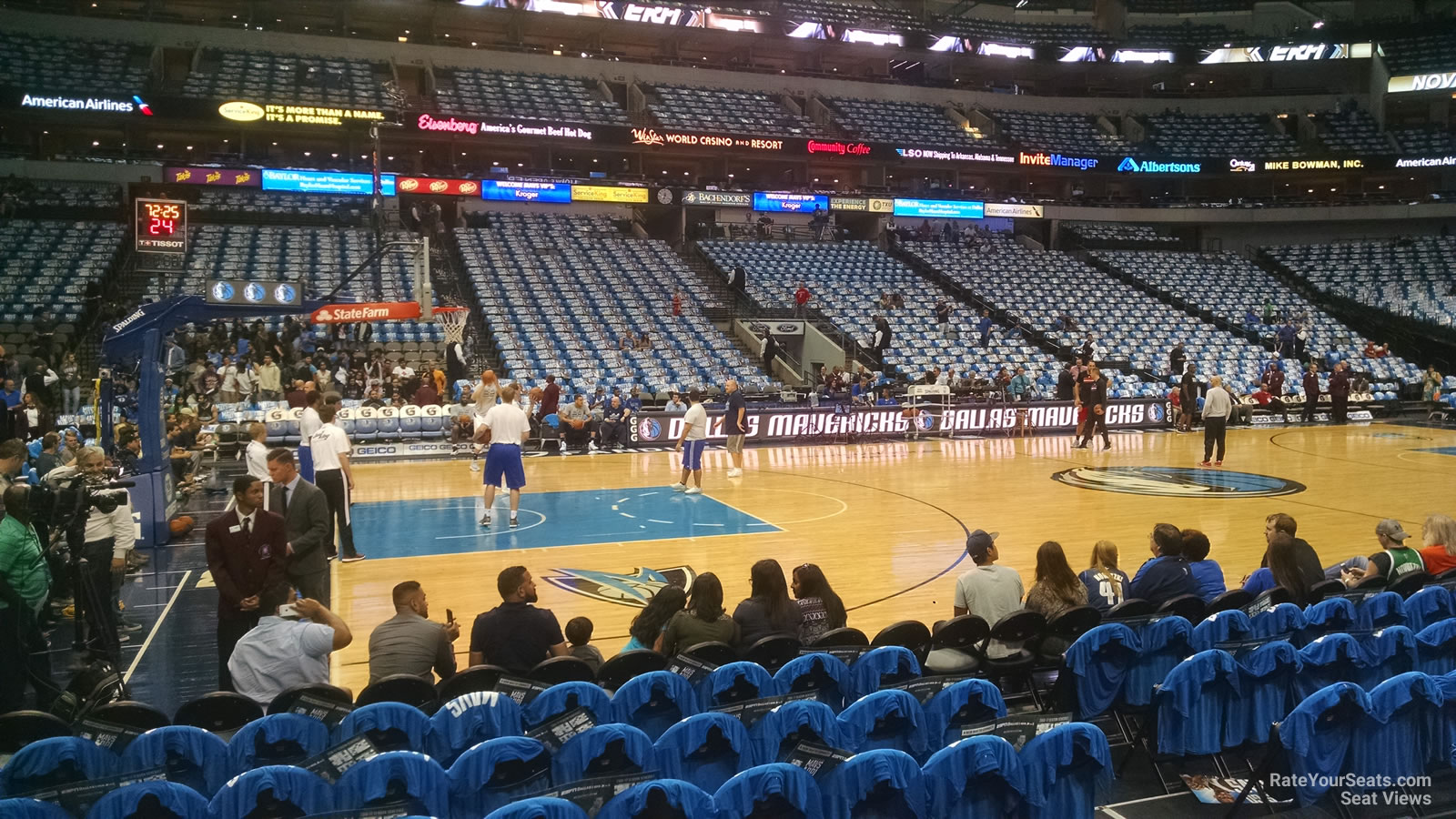 American Airlines Center Section 108 Dallas Mavericks