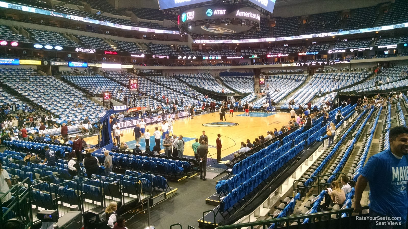 Dallas Mavericks Seat View for American Airlines Center Section 110, Row J