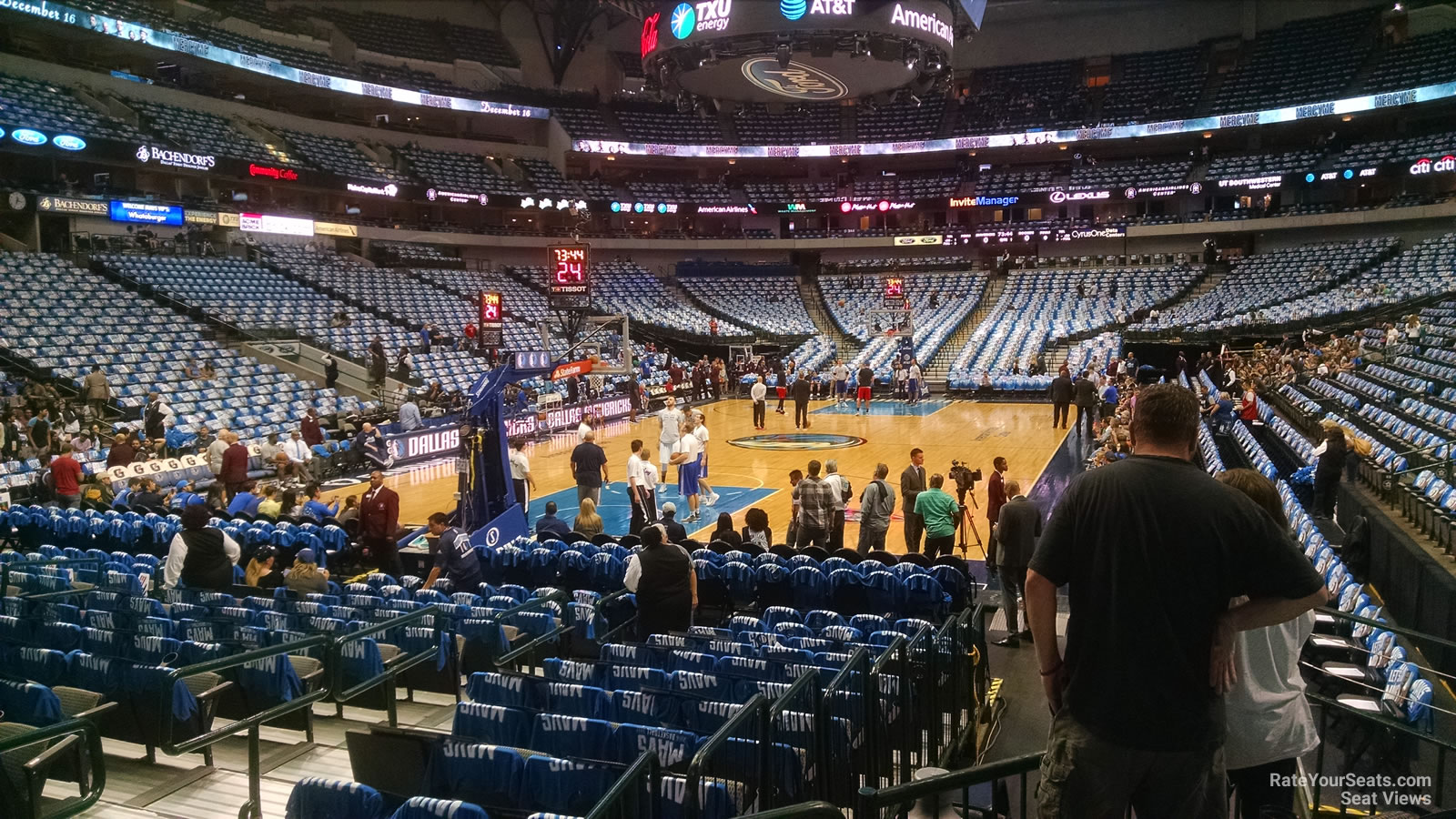 Dallas Mavericks Seat View for American Airlines Center Section 111, Row D