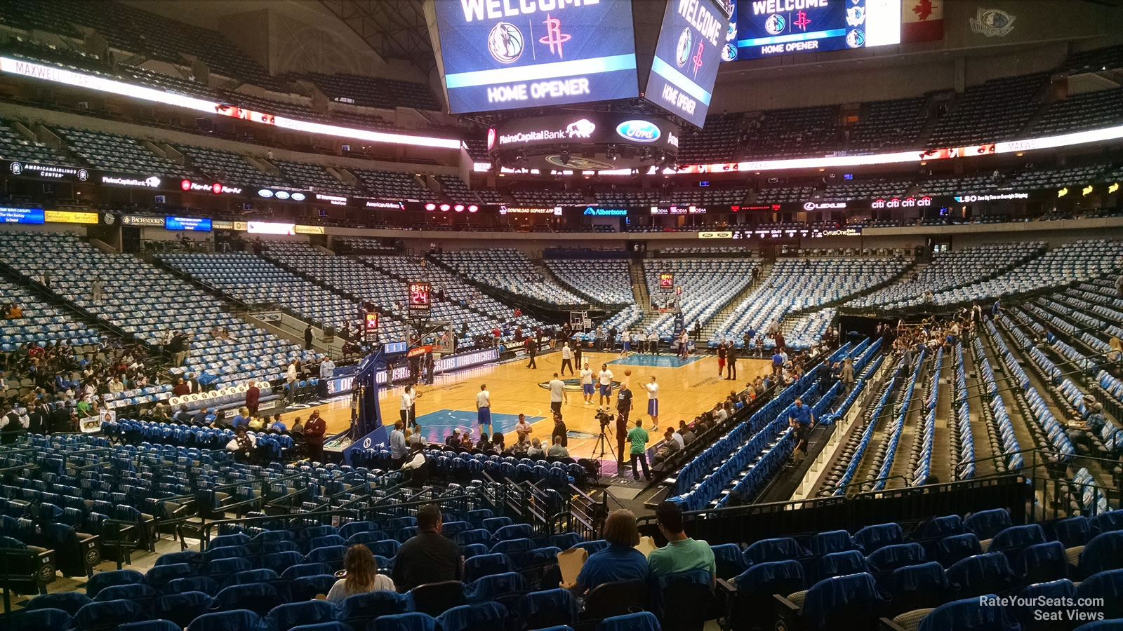 Dallas Mavericks Seat View for American Airlines Center Section 111, Row O