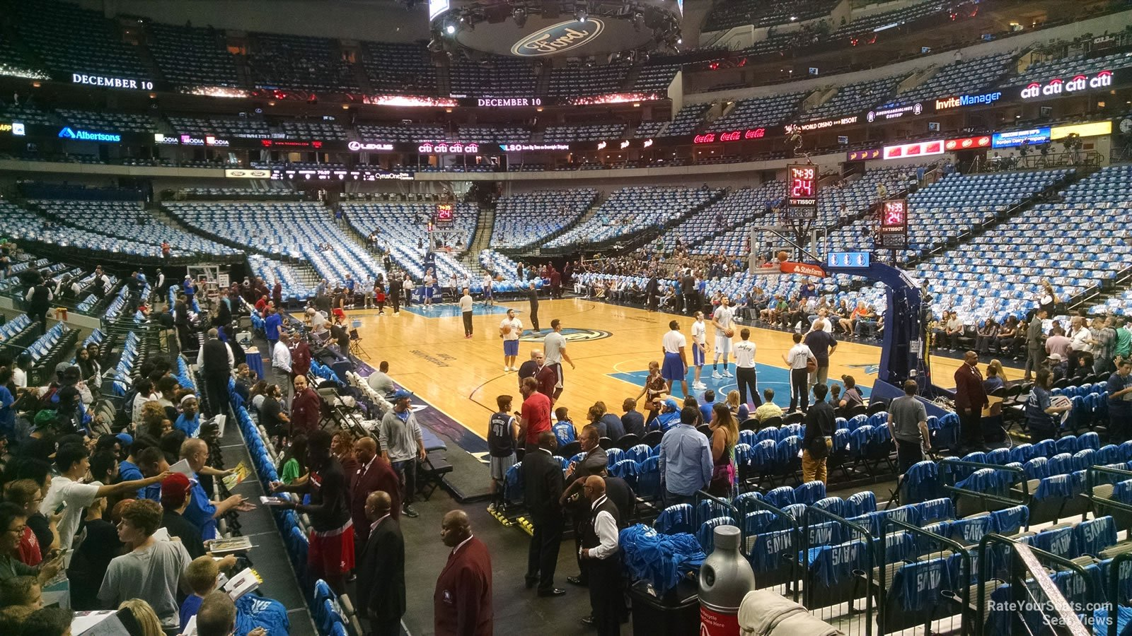 Dallas Mavericks Seat View for American Airlines Center Section 115, Row D