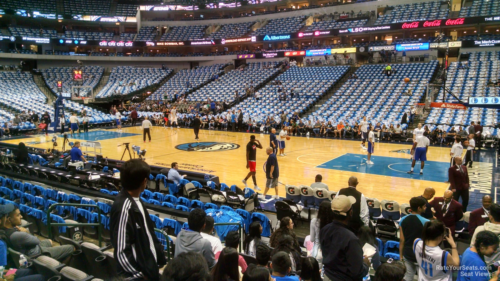 Dallas Mavericks Seat View for American Airlines Center Section 117, Row H