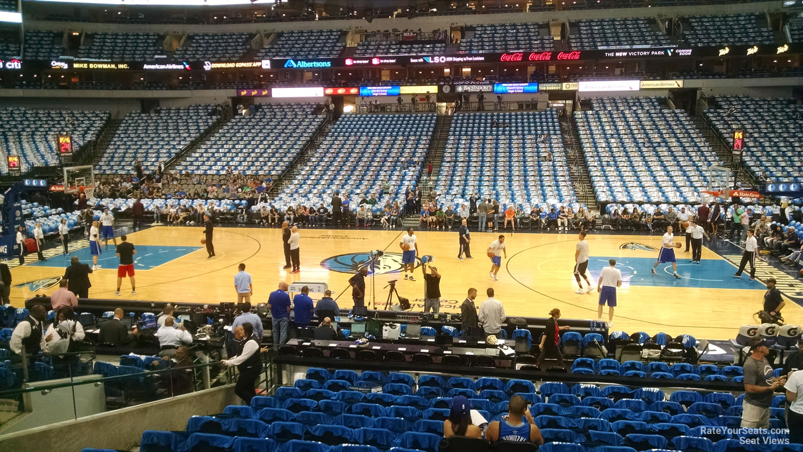 american airlines center section 118 dallas mavericks rateyourseatscom