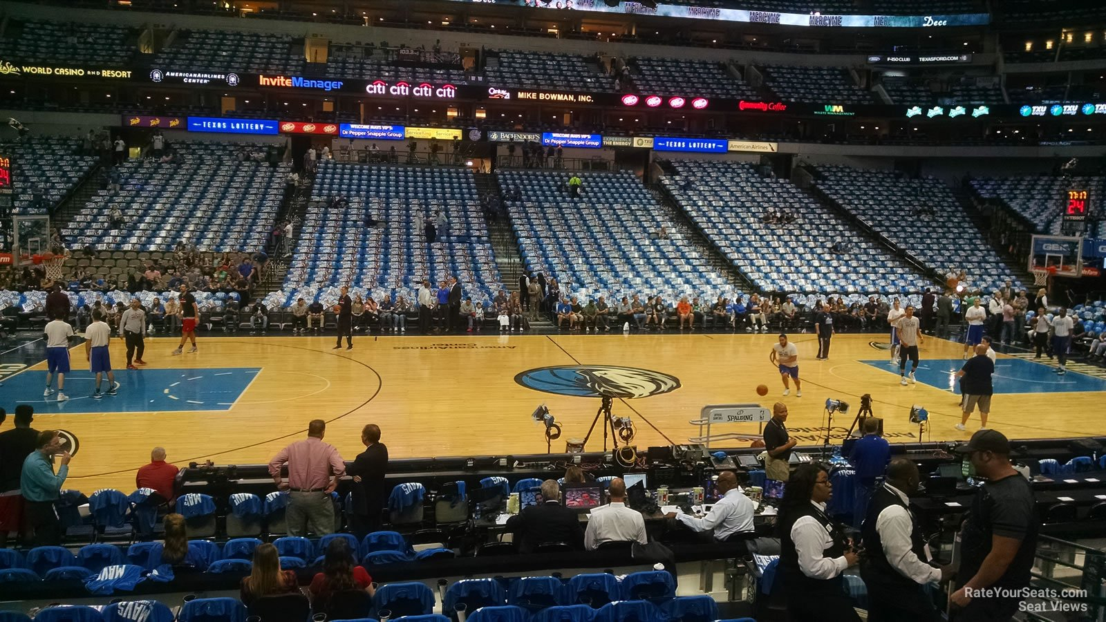 Dallas Mavericks Seat View for American Airlines Center Section 119, Row H