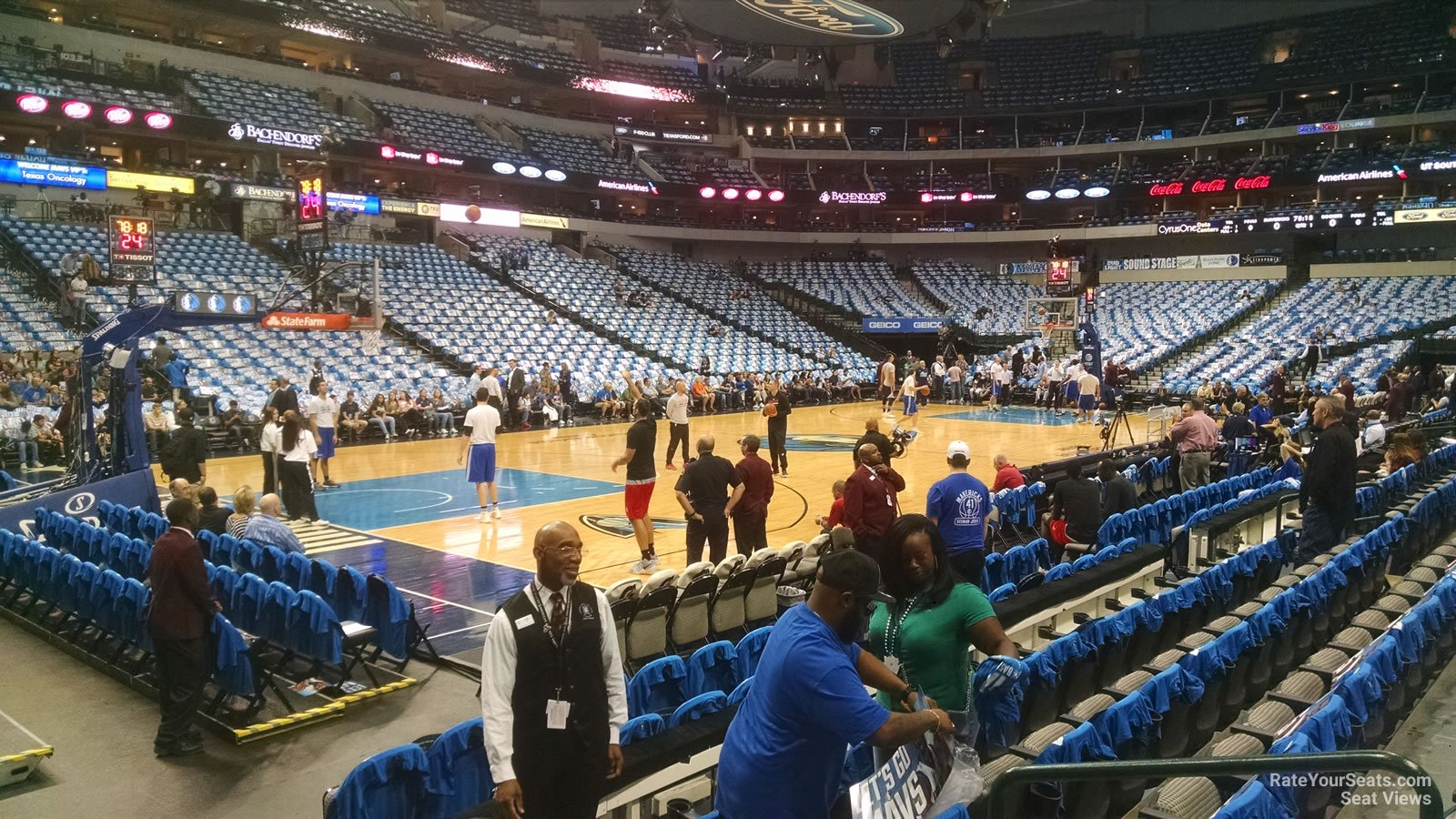 Dallas Mavericks Seat View for American Airlines Center Section 121, Row E