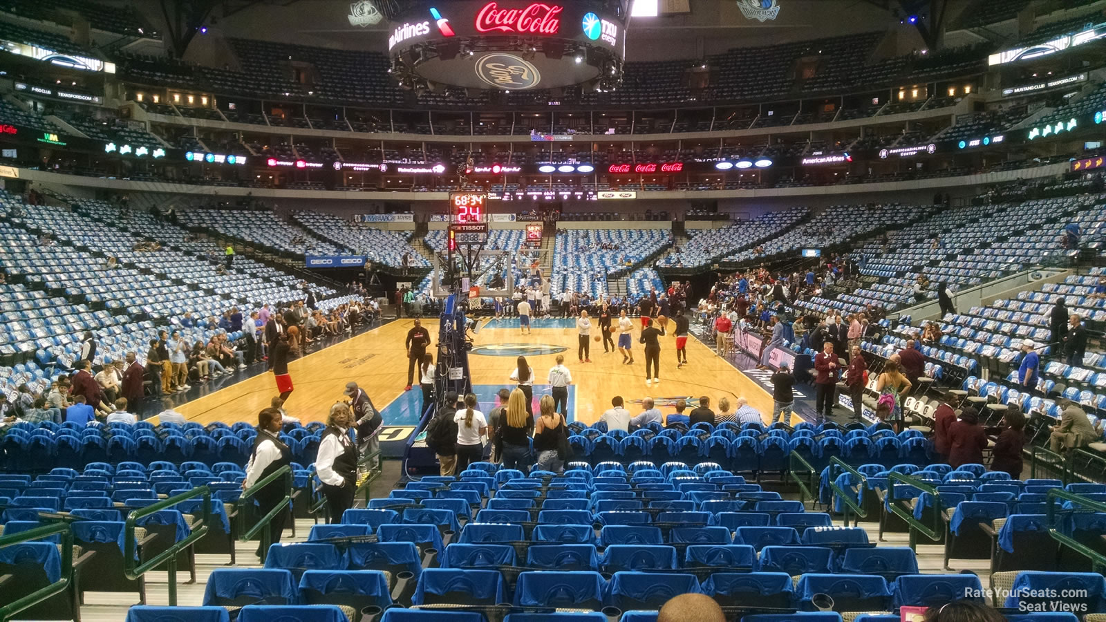 Dallas Mavericks Seat View for American Airlines Center Section 124, Row D