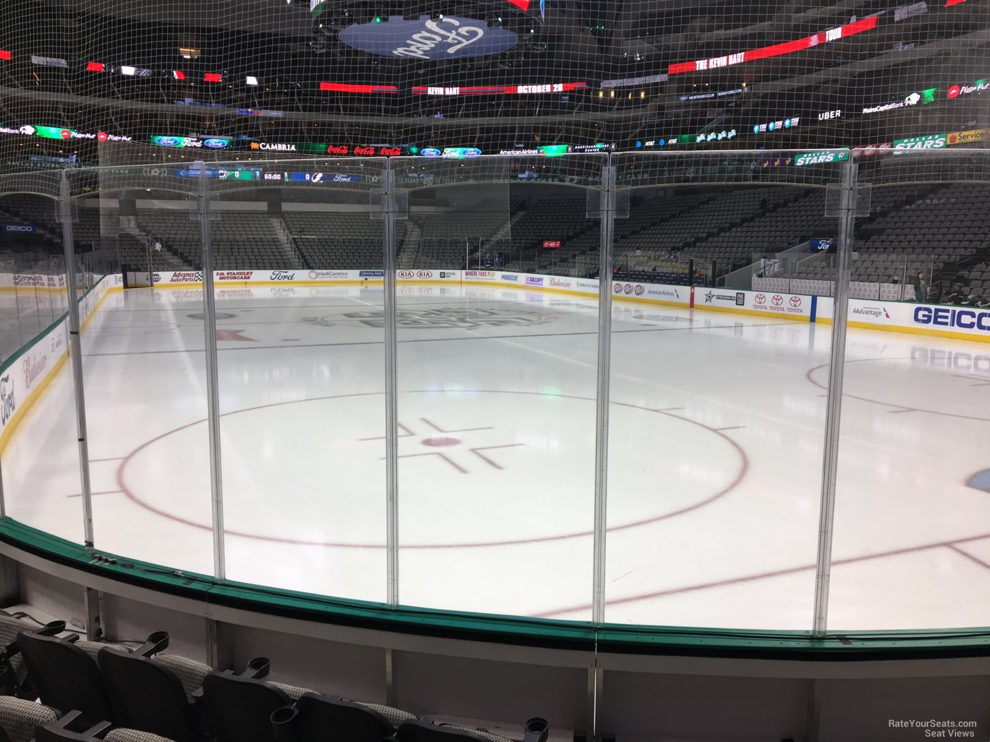 Dallas Stars Seat View for American Airlines Center Section 102, Row E