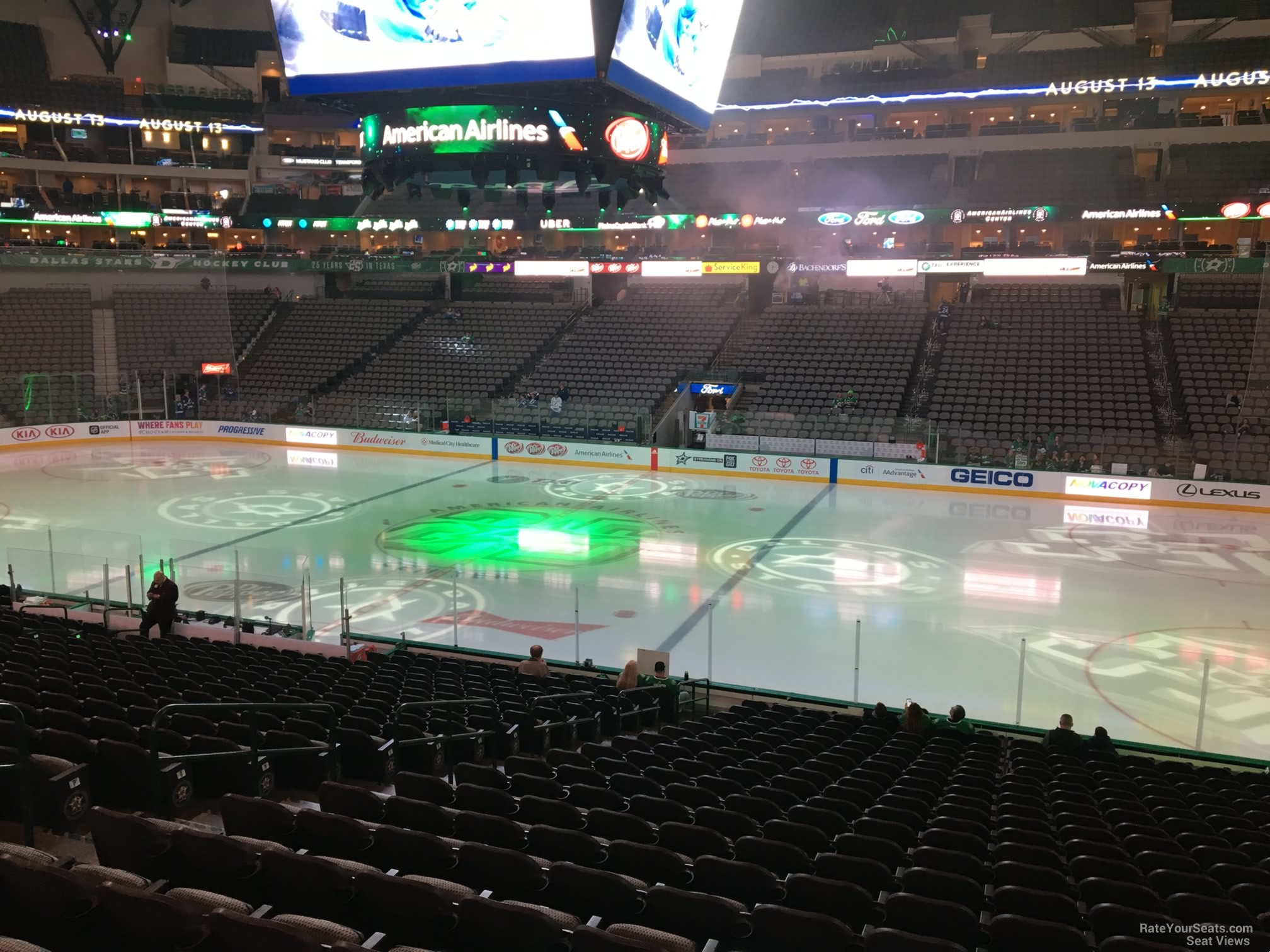 American Airlines Center Section 105 Dallas Stars