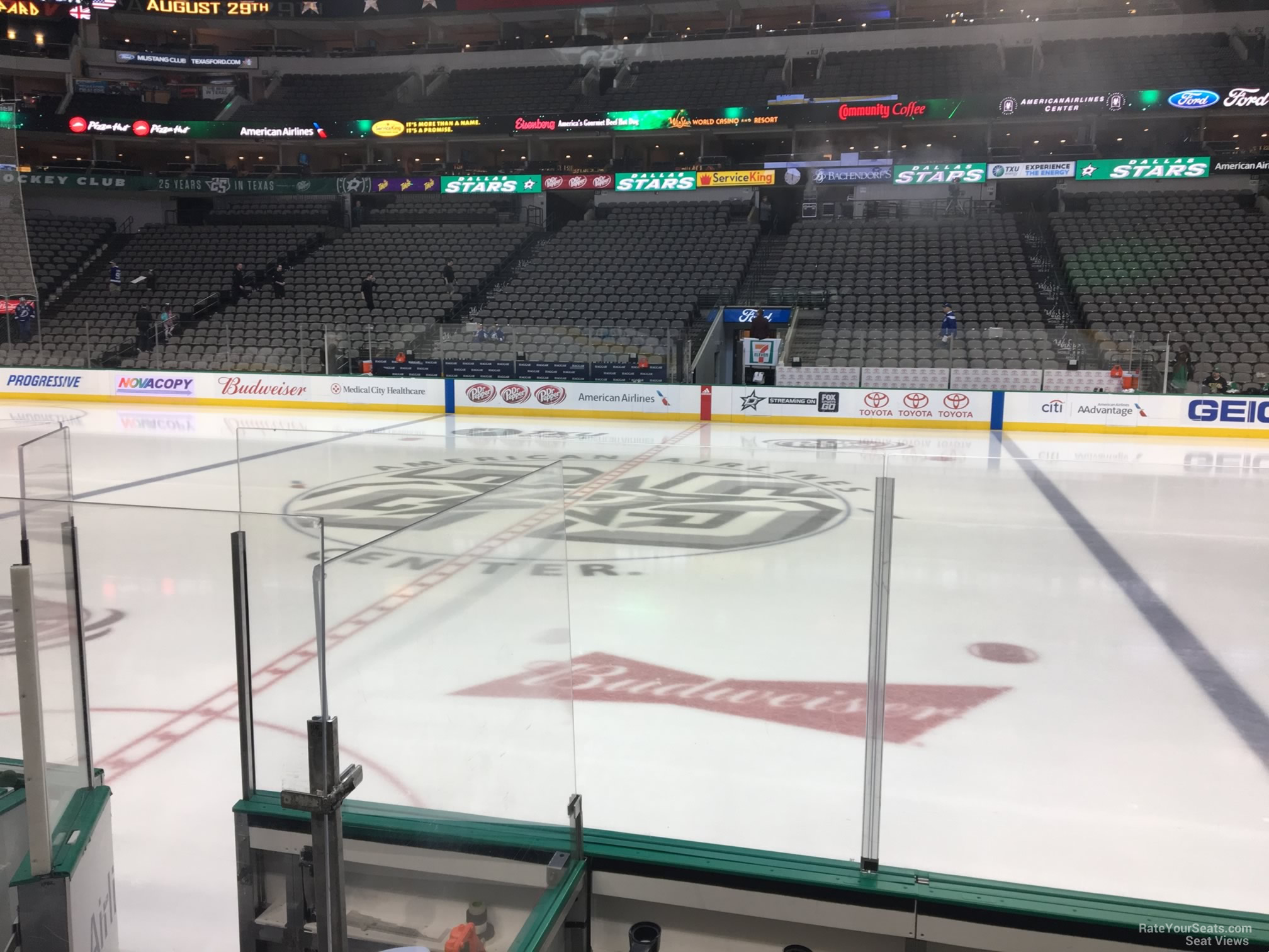 Dallas Stars Seat View for American Airlines Center Section 106, Row E