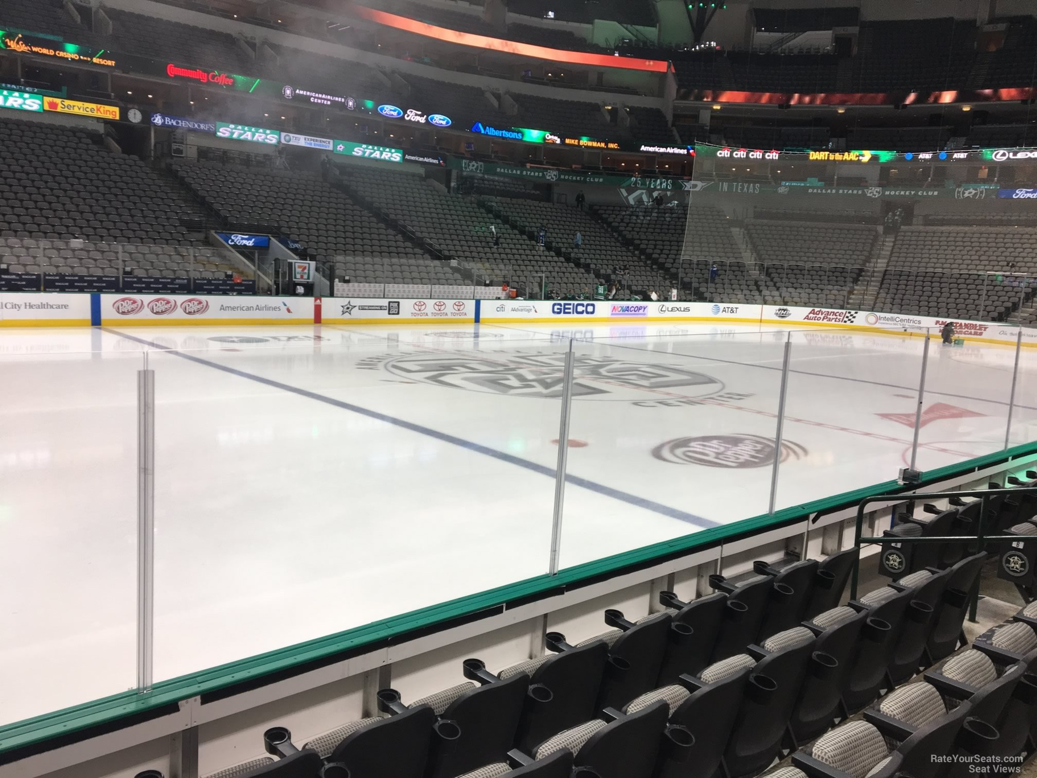 Dallas Stars Seat View for American Airlines Center Section 108, Row E