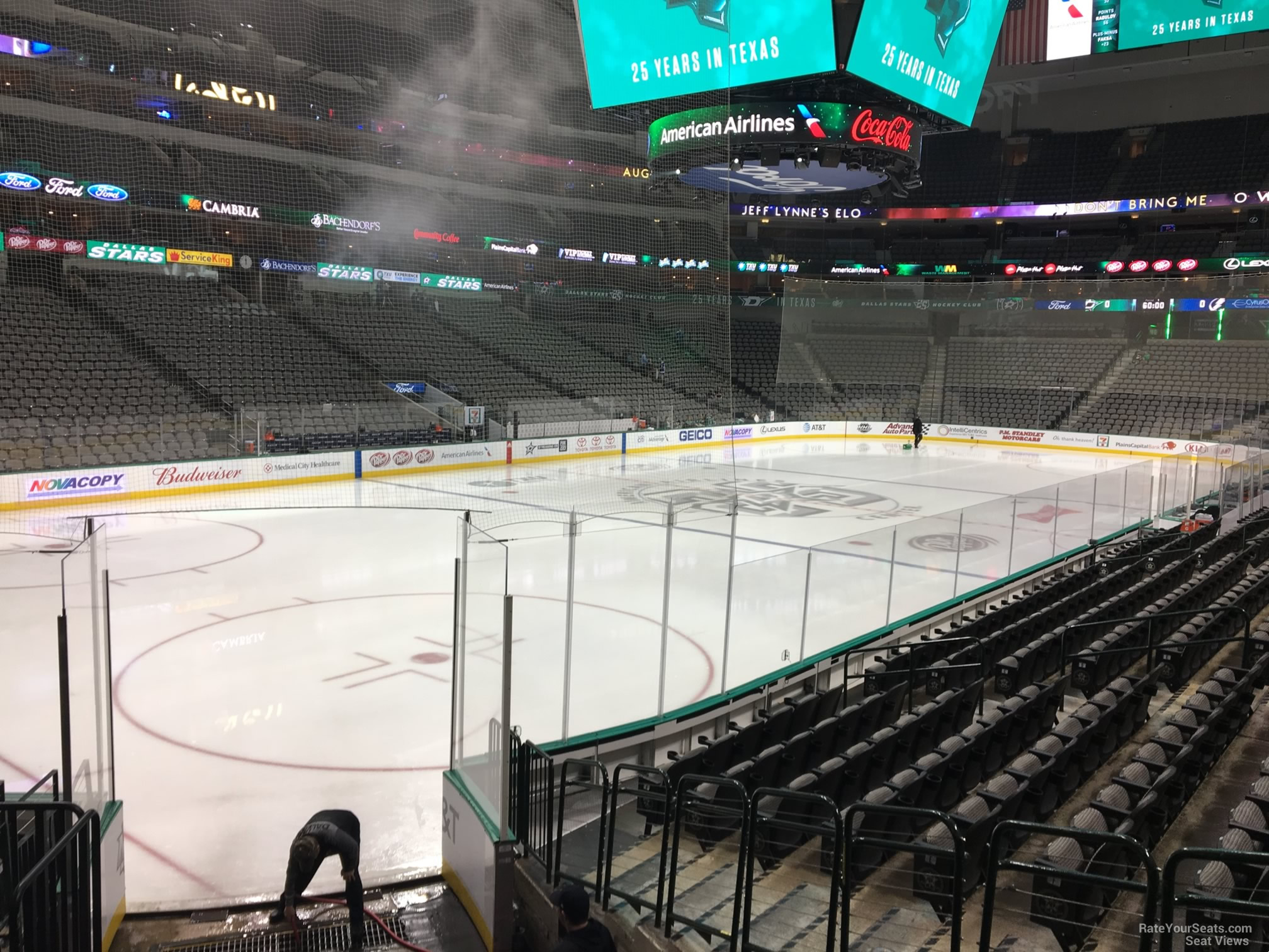Dallas Stars Seat View for American Airlines Center Section 110, Row M