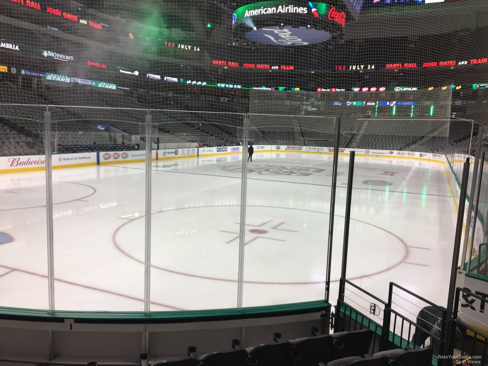 Dallas Stars Seat View for American Airlines Center Section 111, Row F