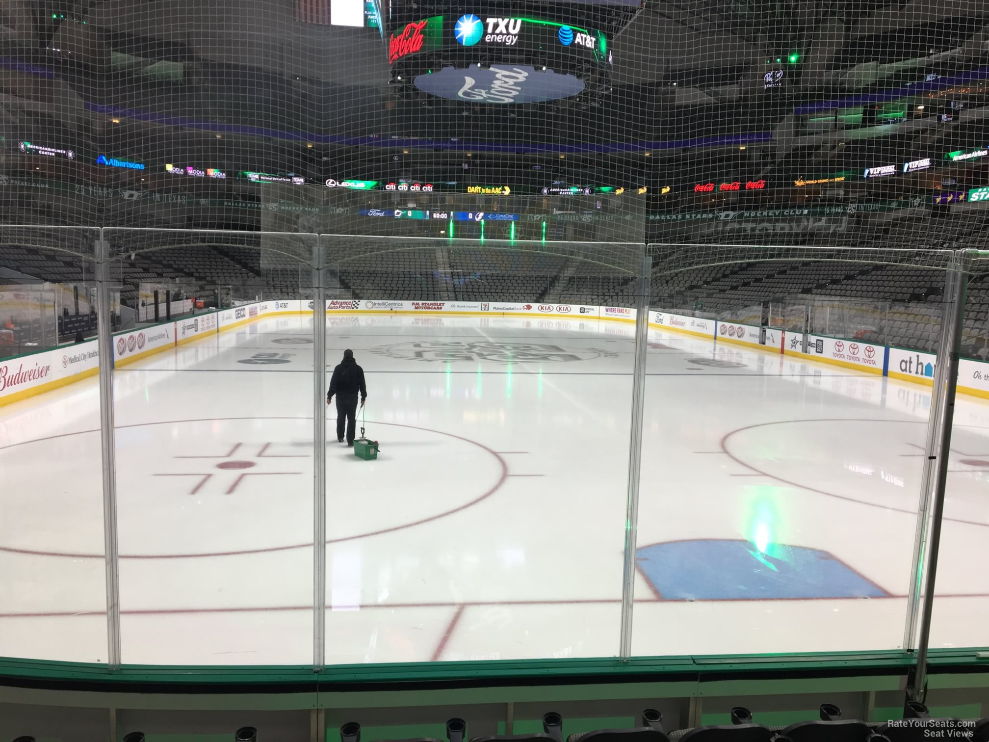 Dallas Stars Seat View for American Airlines Center Section 113, Row F