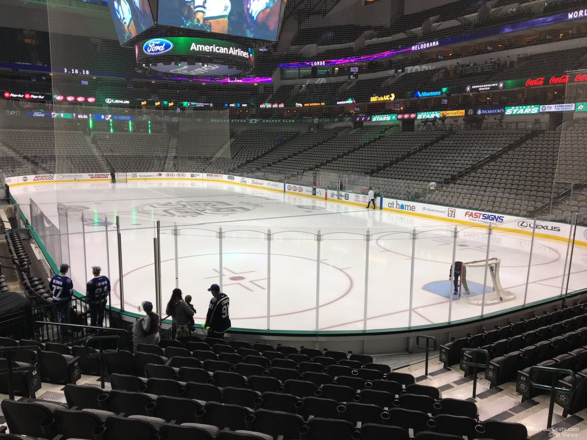 American Airlines Center Section 114 Dallas Stars