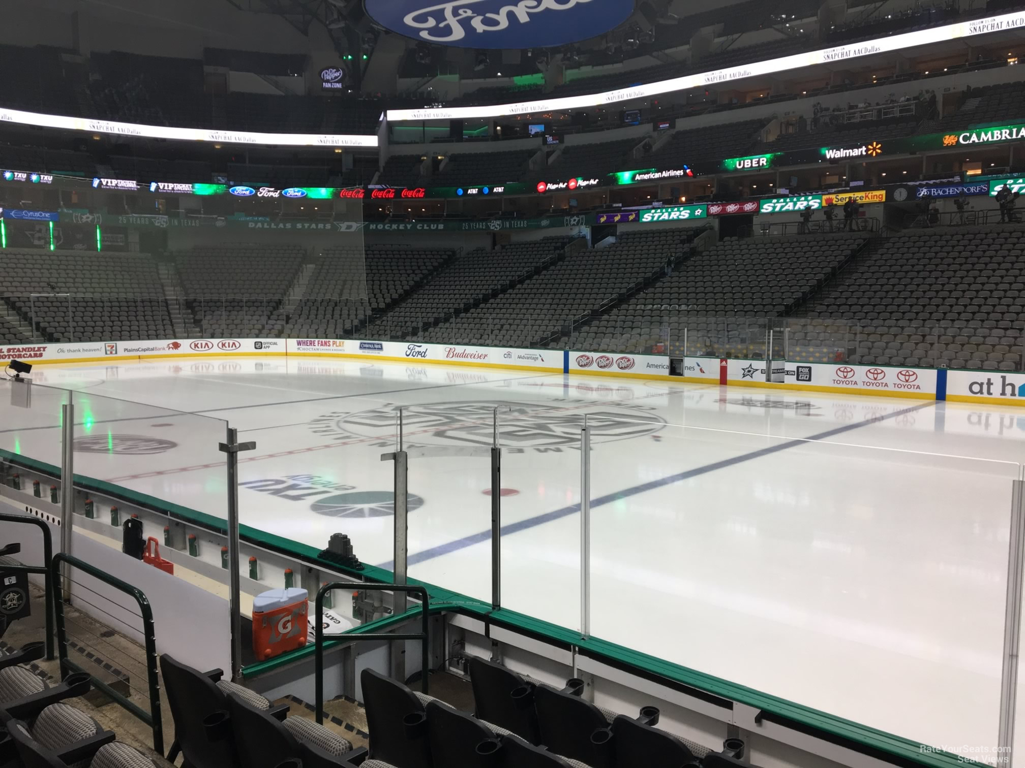 Dallas Stars Seat View for American Airlines Center Section 117, Row F