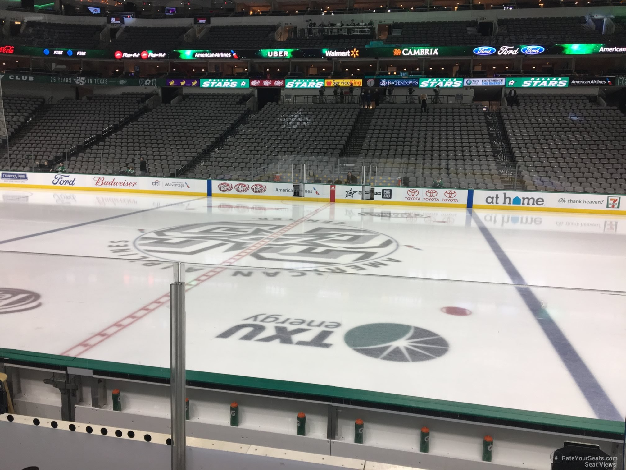 Dallas Stars Seat View for American Airlines Center Section 118, Row E