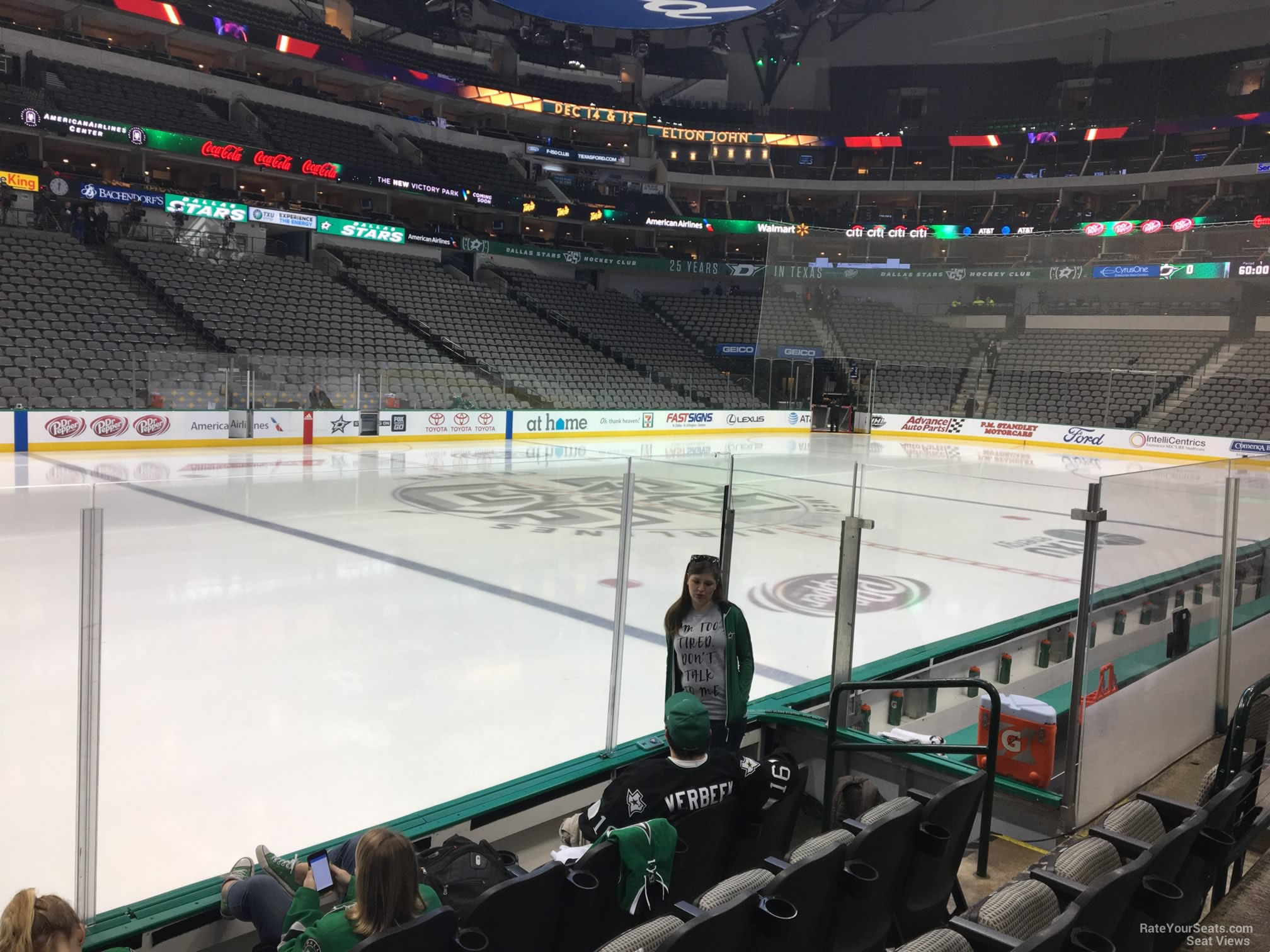 Dallas Stars Seat View for American Airlines Center Section 120, Row E