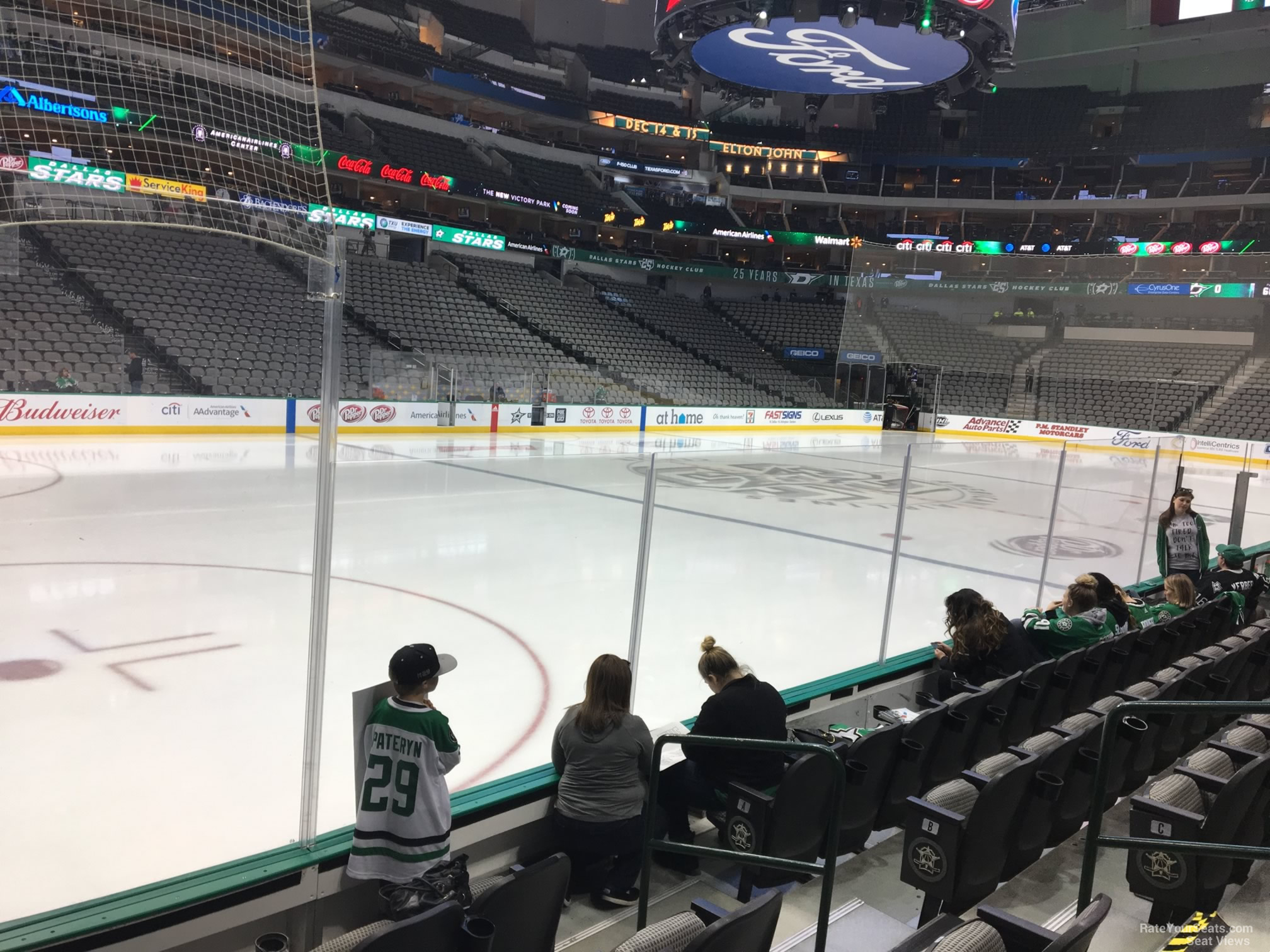 Dallas Stars Seat View for American Airlines Center Section 121, Row E