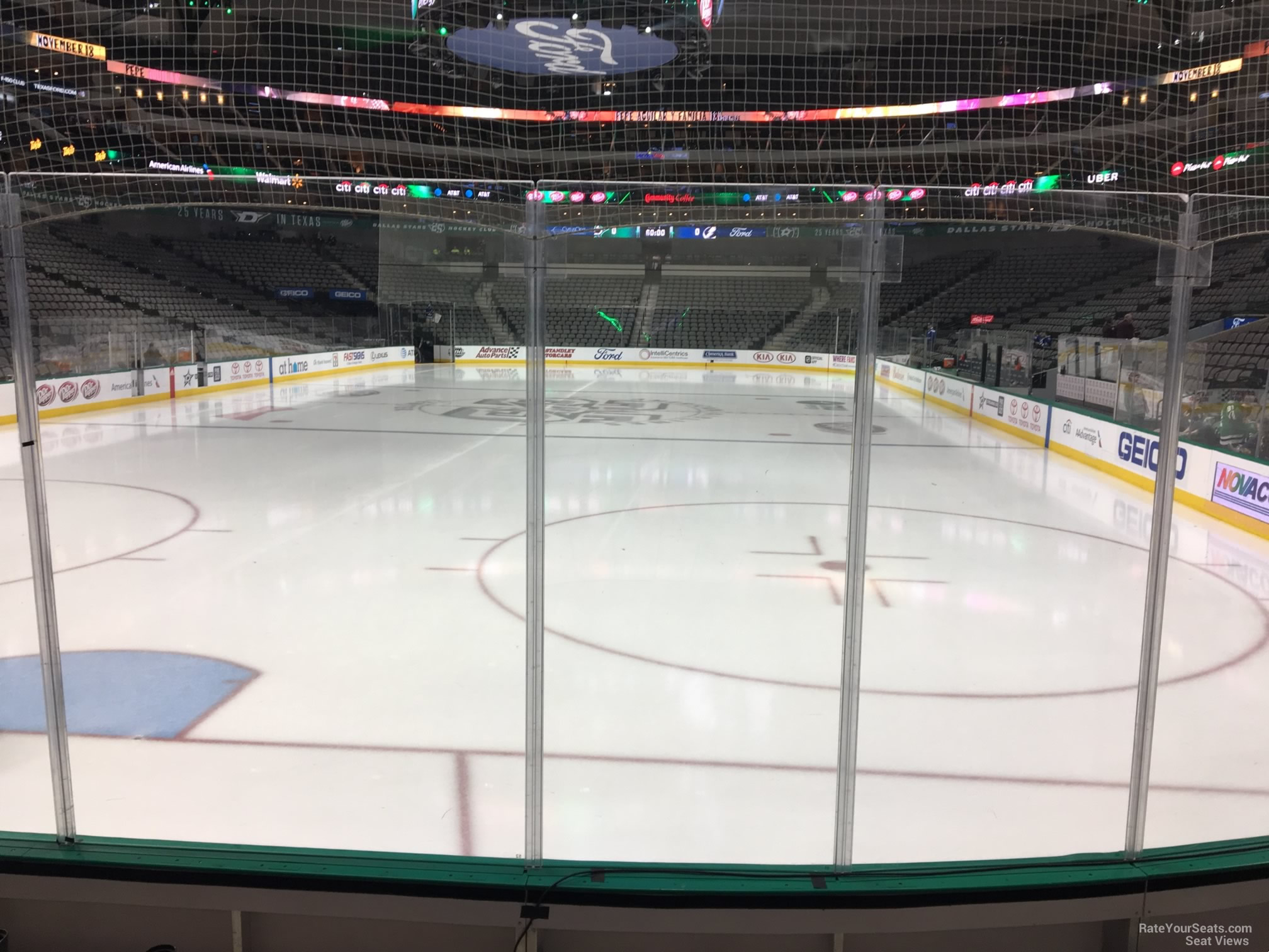 Dallas Stars Seat View for American Airlines Center Section 124, Row E