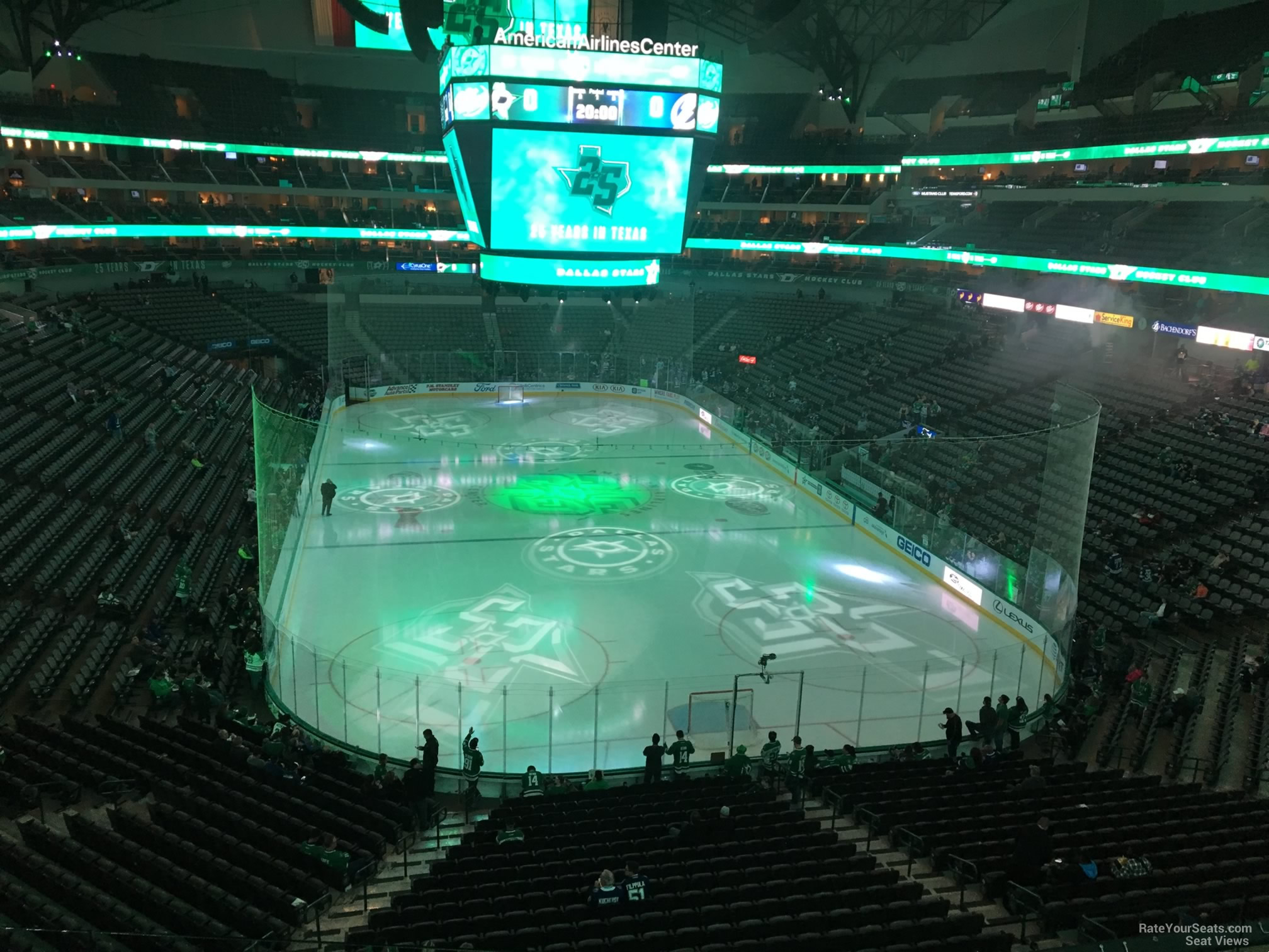 Dallas Stars Seat View for American Airlines Center Section 202, Row D