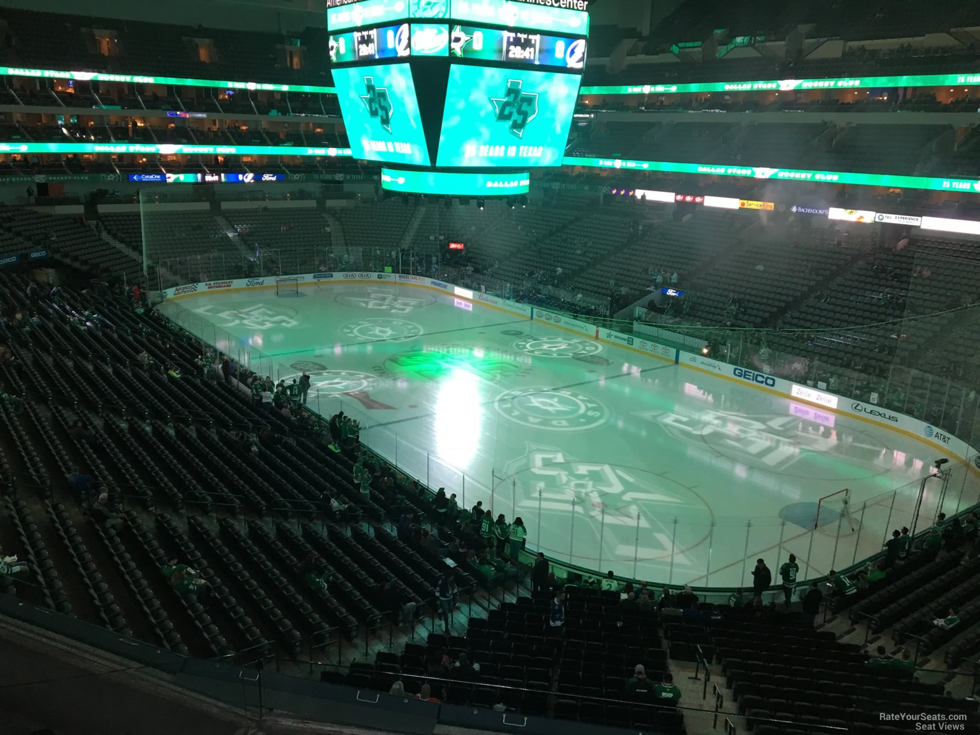 Dallas Stars Seat View for American Airlines Center Section 204, Row D