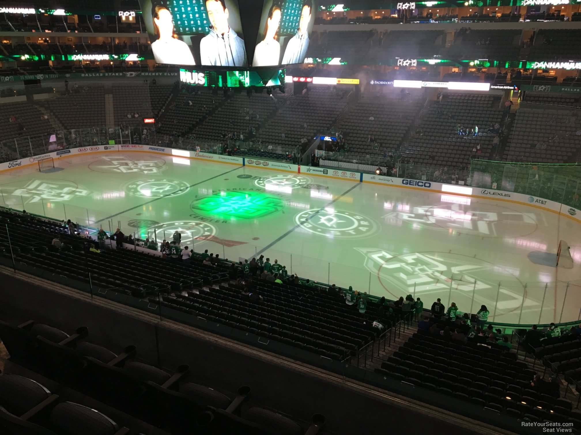 Dallas Stars Seat View for American Airlines Center Section 207, Row E