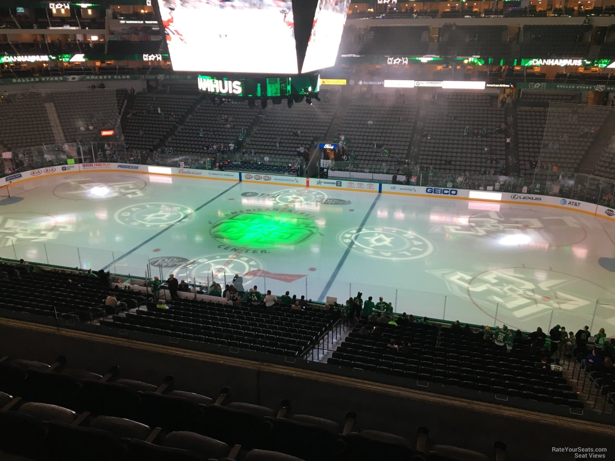 Dallas Stars Seat View for American Airlines Center Section 208, Row E