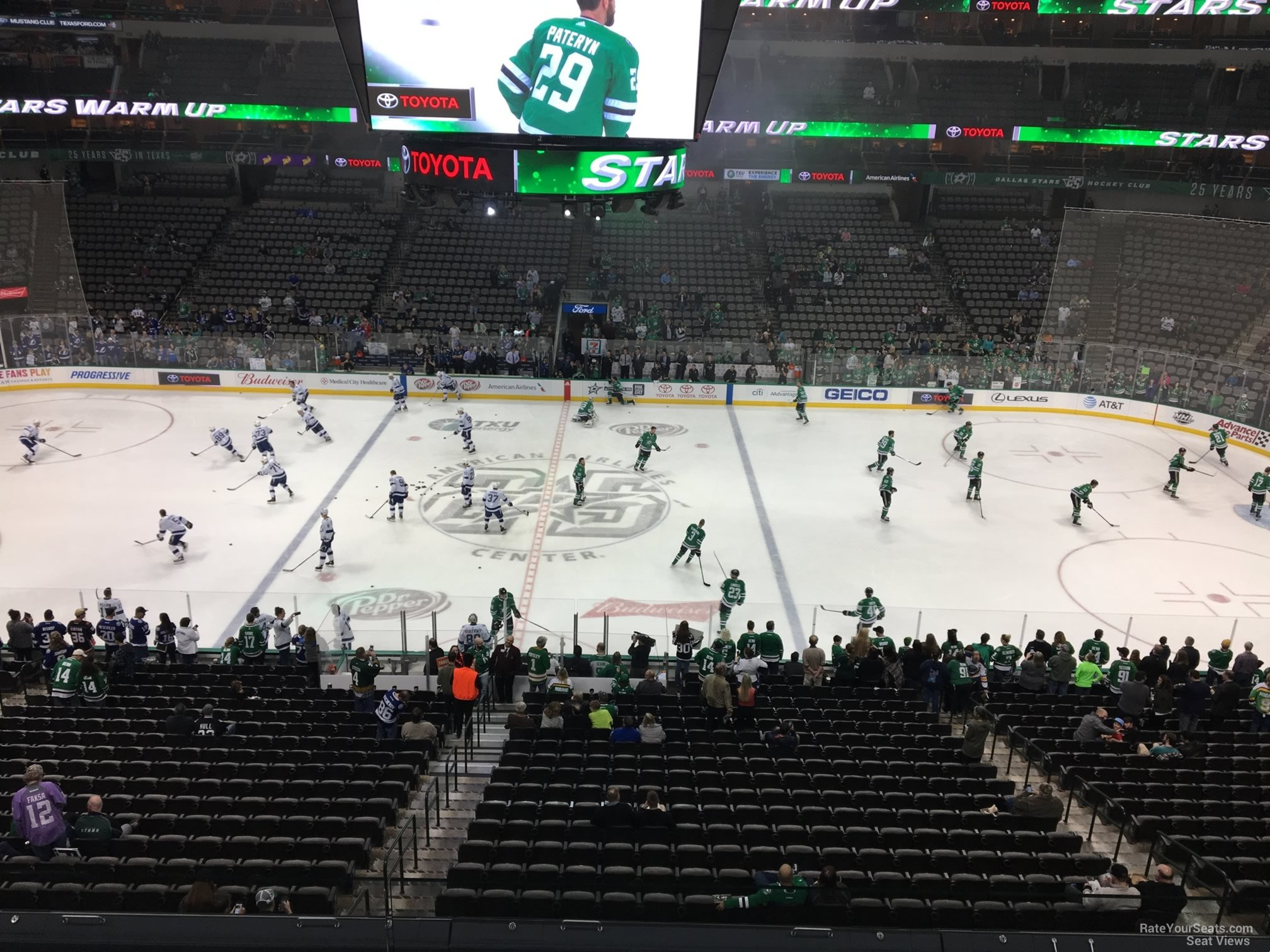 Dallas Stars Seat View for American Airlines Center Section 209, Row C