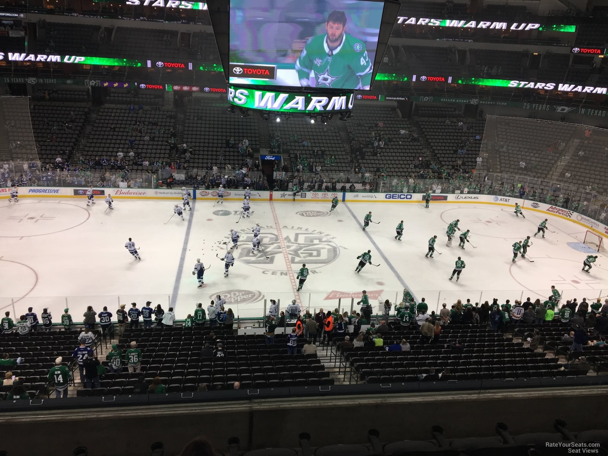 Dallas Stars Seat View for American Airlines Center Section 210, Row D