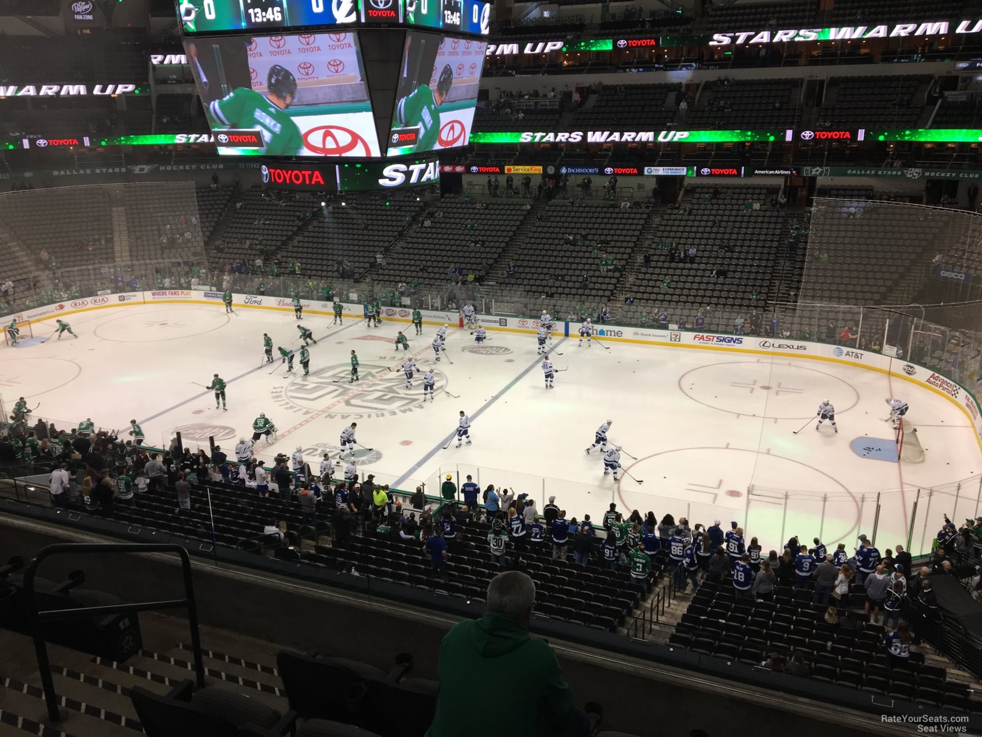 Dallas Stars Seat View for American Airlines Center Section 214, Row D
