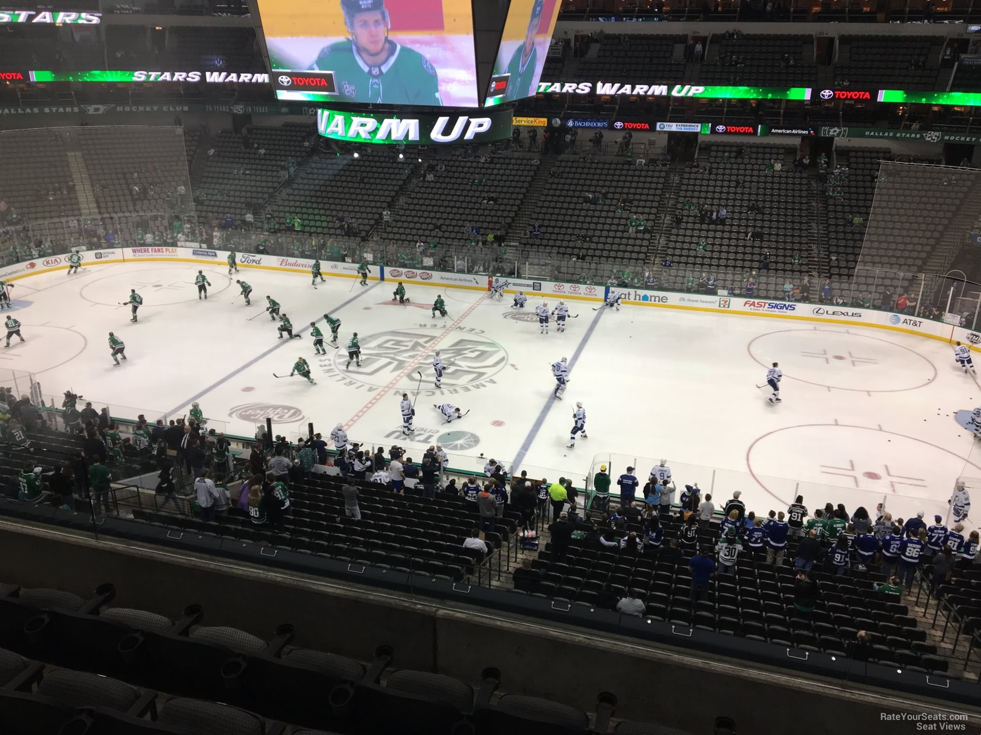 Dallas Stars Seat View for American Airlines Center Section 215, Row D