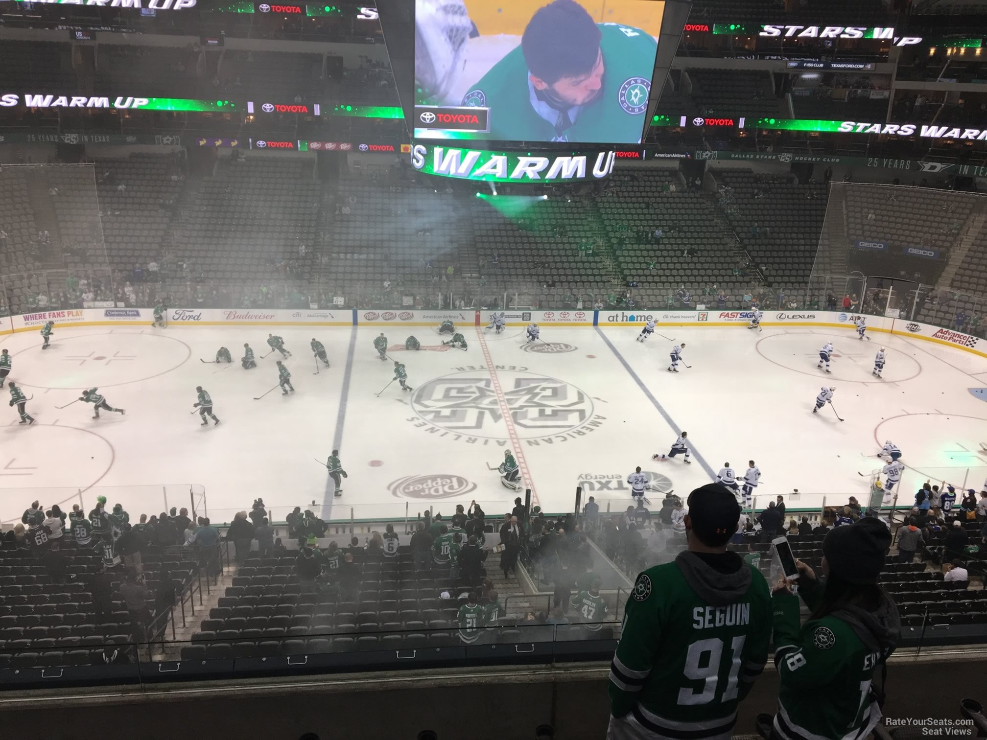 Dallas Stars Seat View for American Airlines Center Section 217, Row D