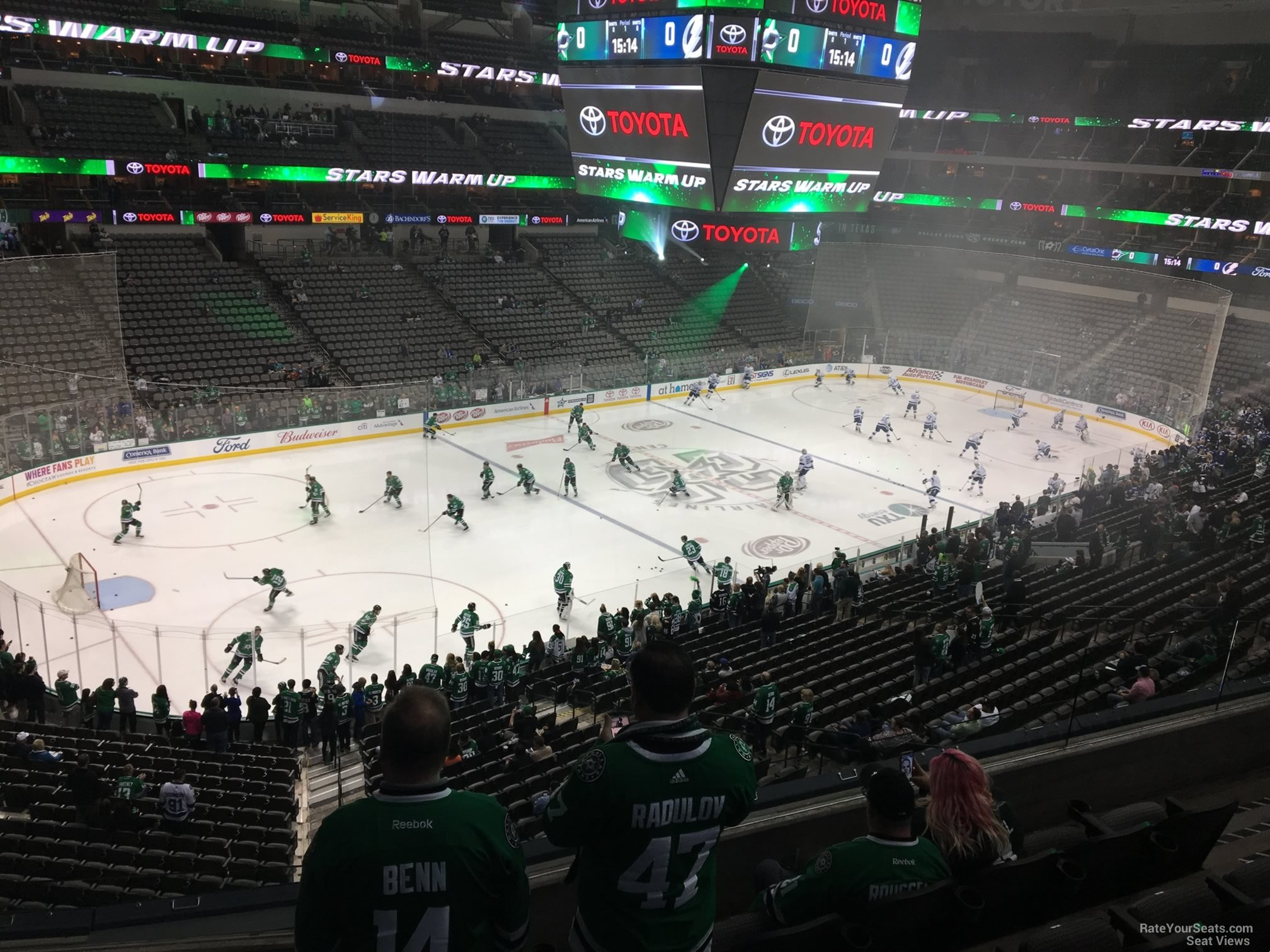 Dallas Stars Seat View for American Airlines Center Section 220, Row D
