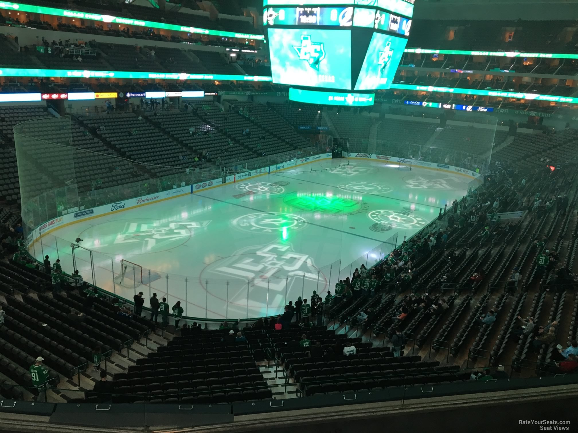 Dallas Stars Seat View for American Airlines Center Section 223, Row D