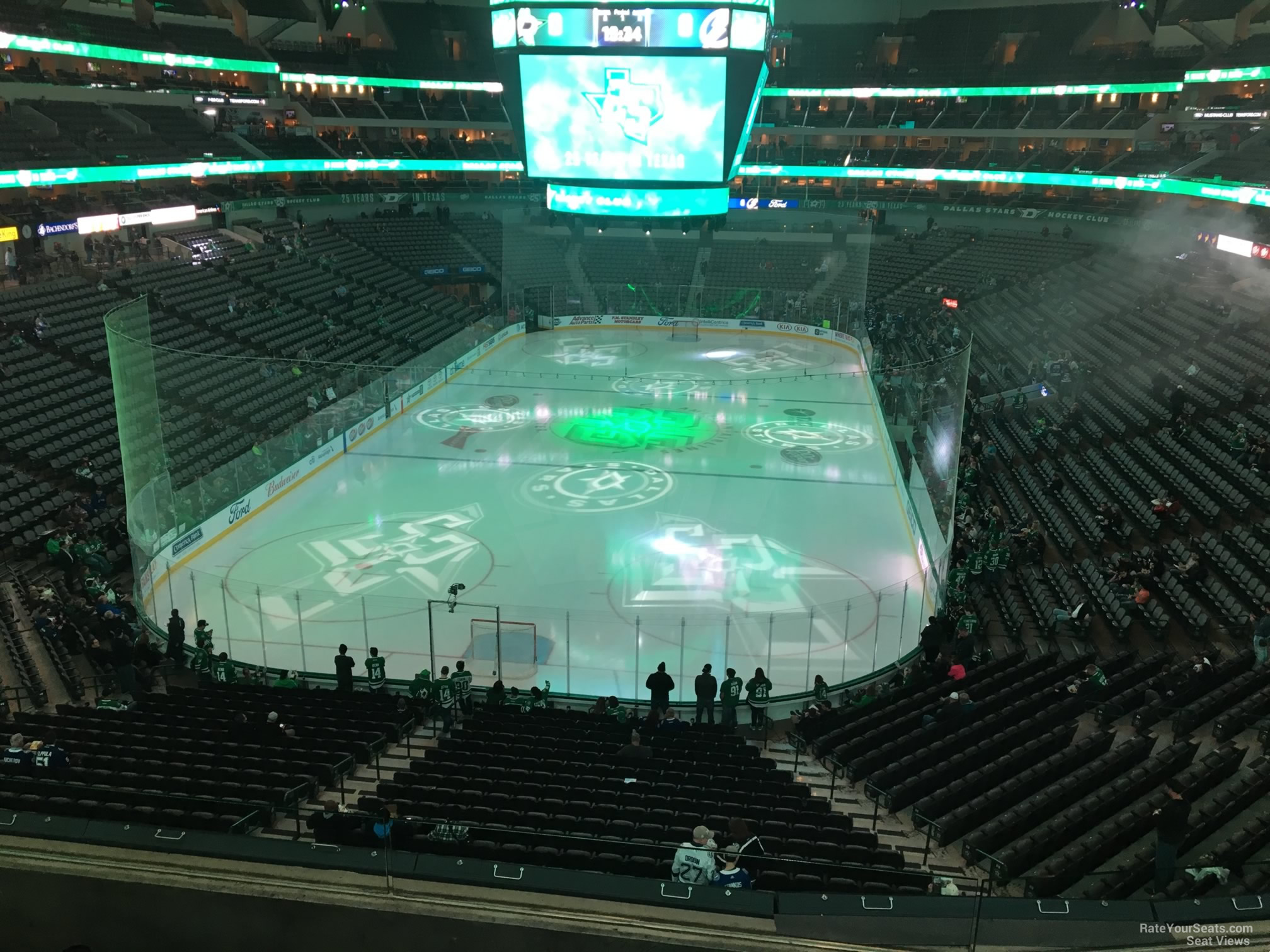 Dallas Stars Seat View for American Airlines Center Section 225, Row D