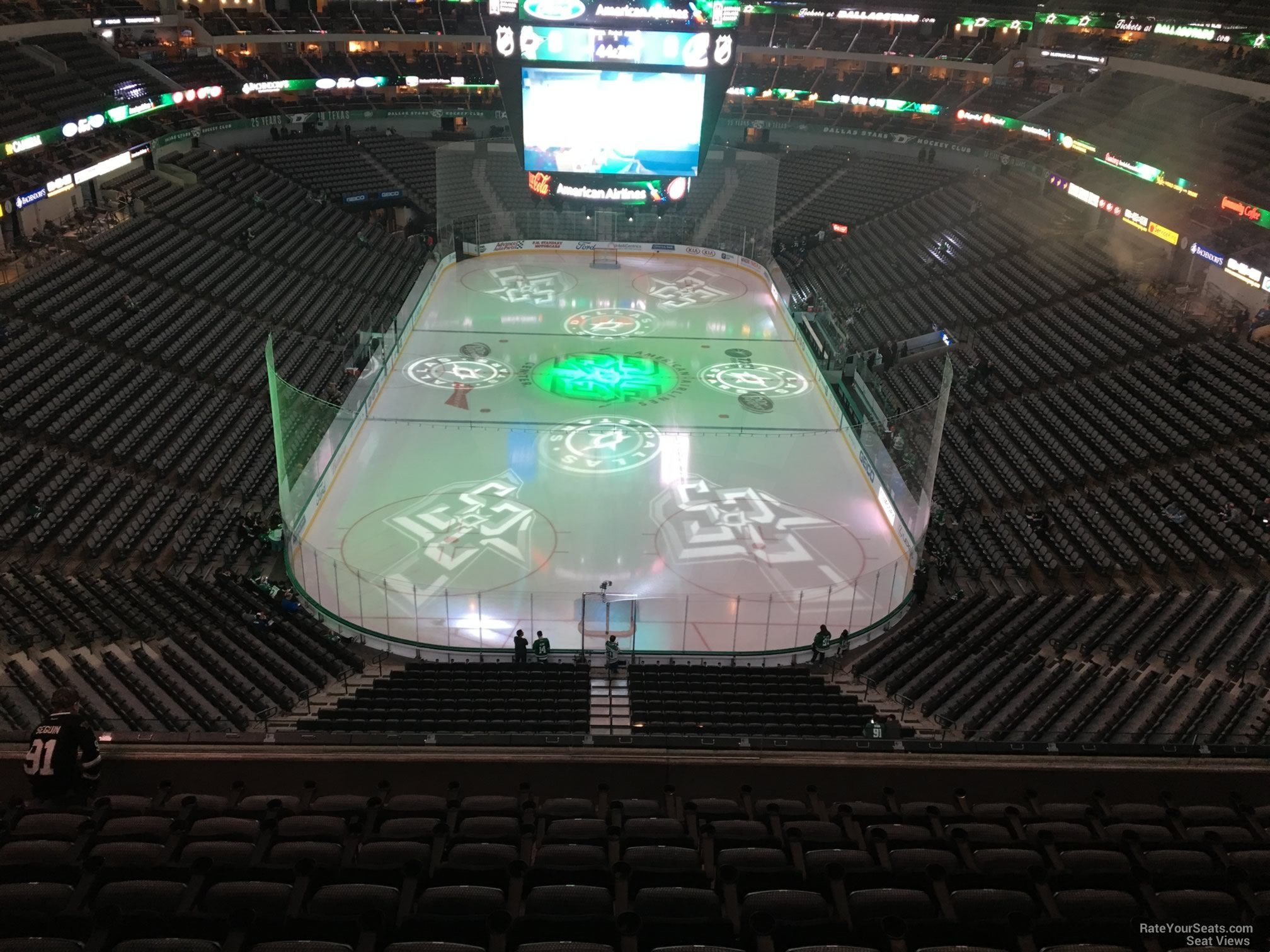 Dallas Stars Seat View for American Airlines Center Section 301, Row EE