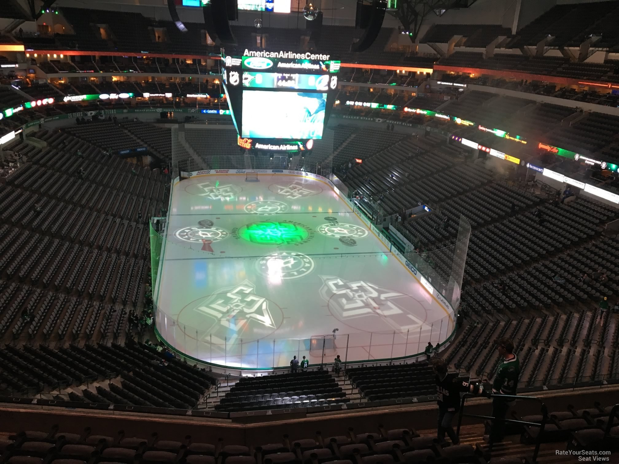 Dallas Stars Seat View for American Airlines Center Section 302, Row EE