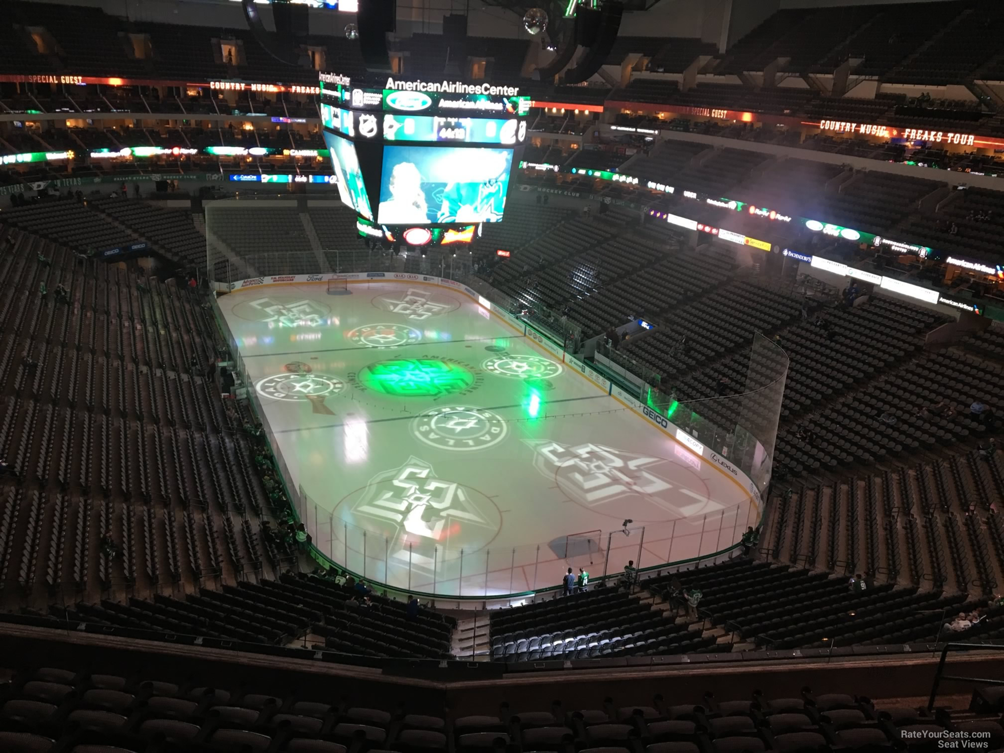 Dallas Stars Seat View for American Airlines Center Section 303, Row EE