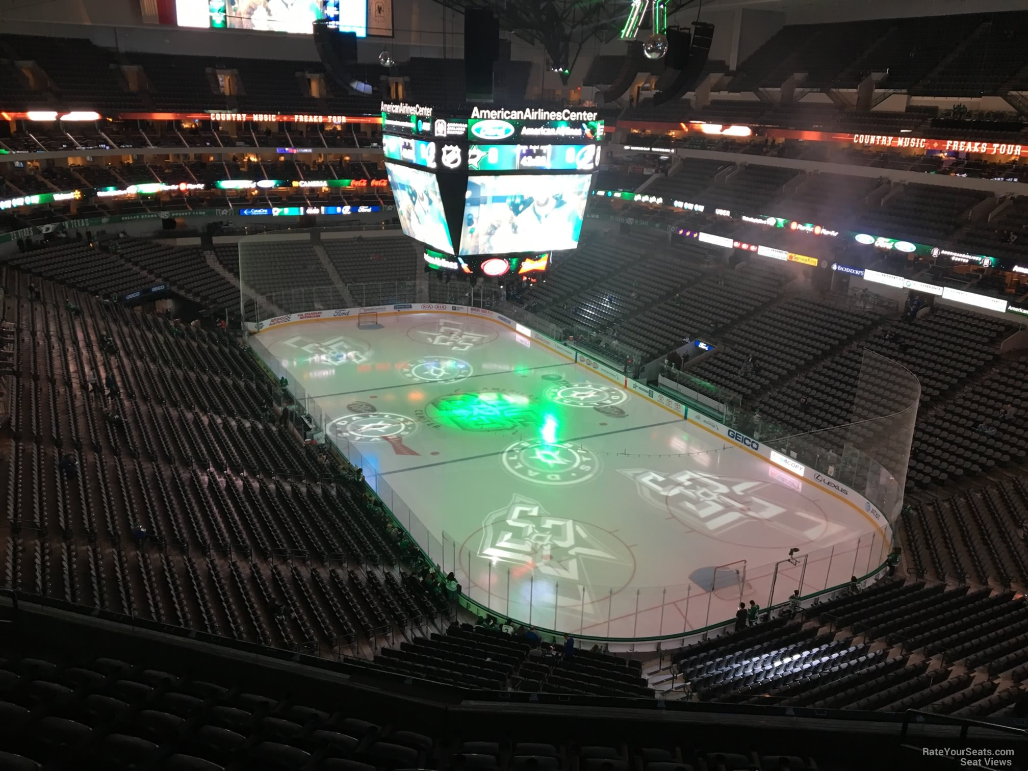 Dallas Stars Seat View for American Airlines Center Section 304, Row EE