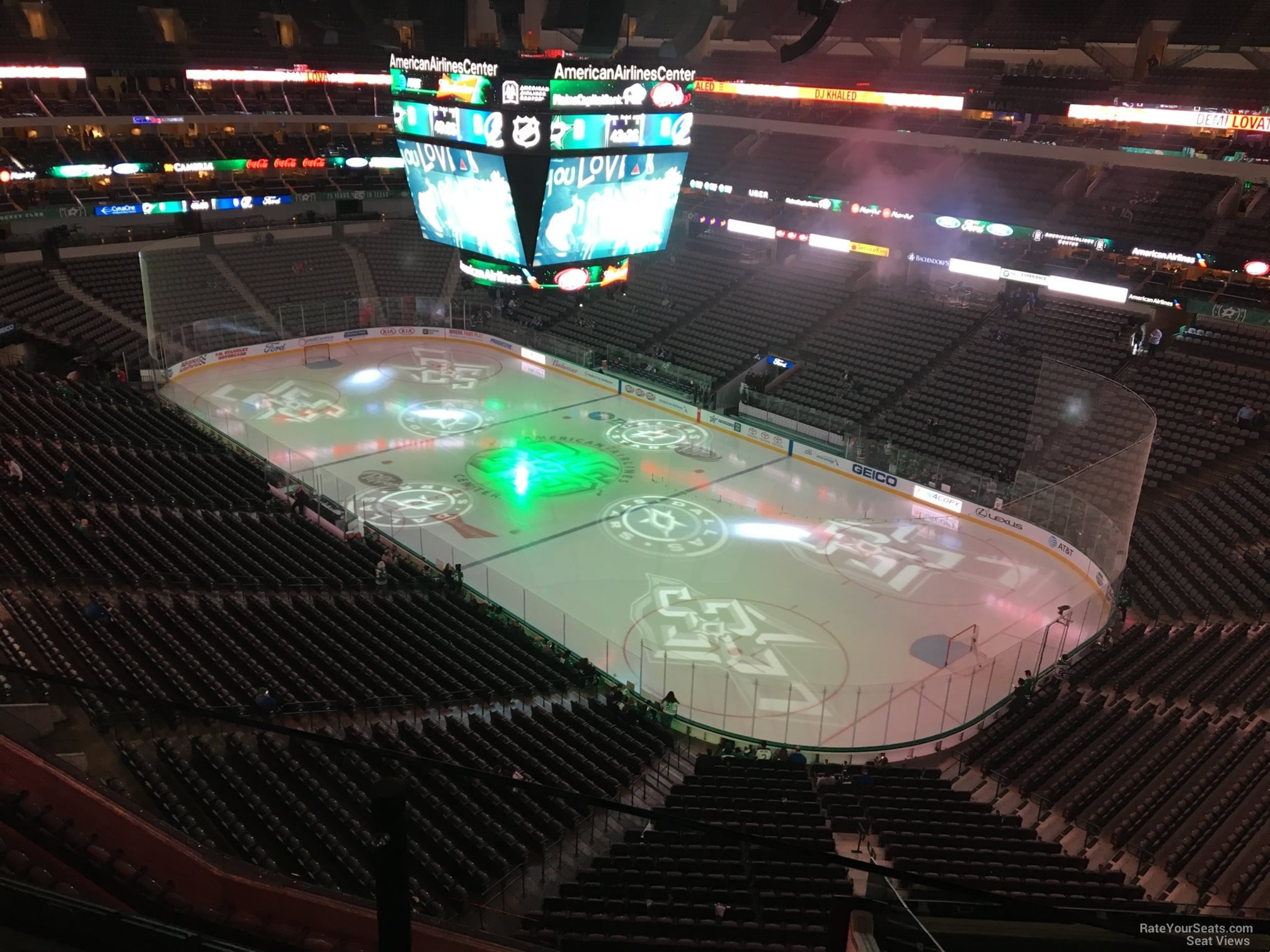 Dallas Stars Seat View for American Airlines Center Section 305, Row EE