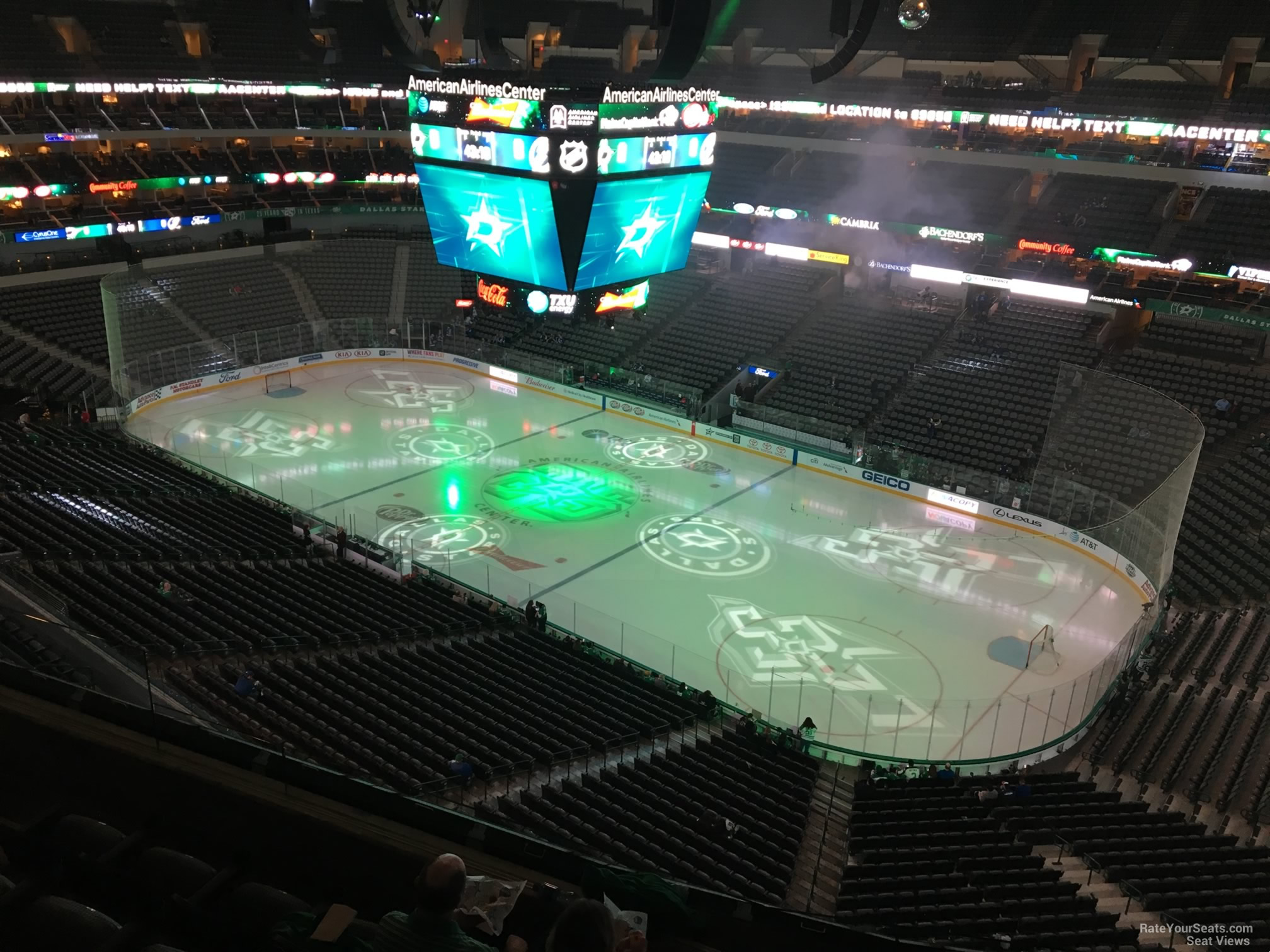 Dallas Stars Seat View for American Airlines Center Section 306, Row E