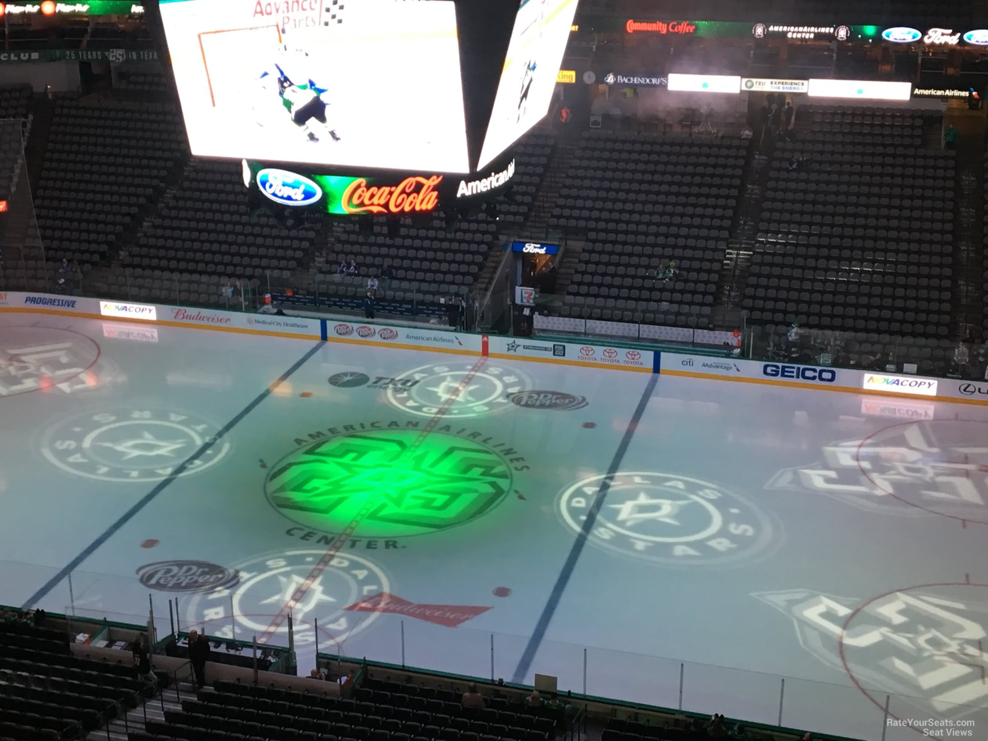 Dallas Stars Seat View for American Airlines Center Section 308