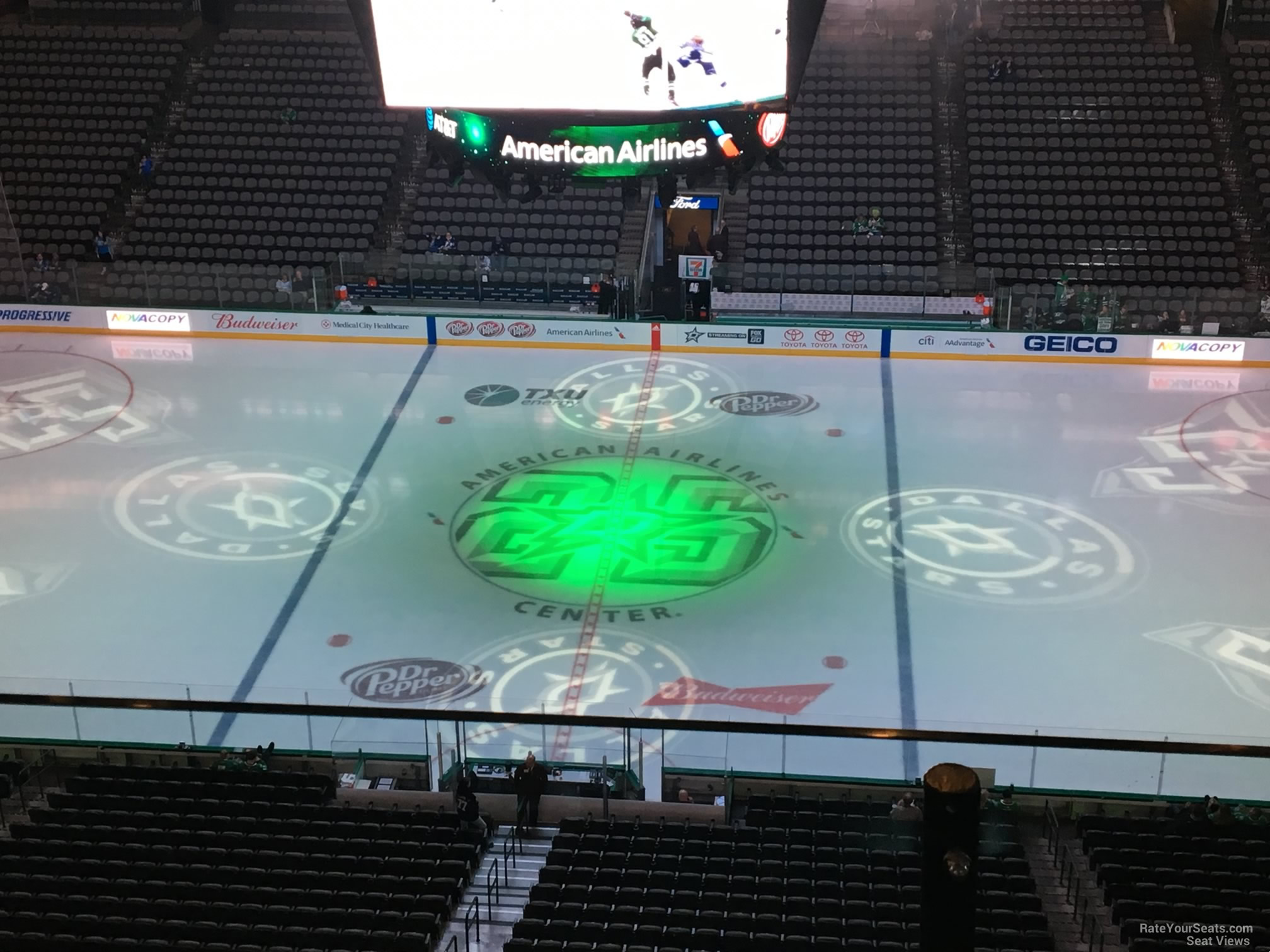 Dallas Stars Seat View for American Airlines Center Section 309, Row D