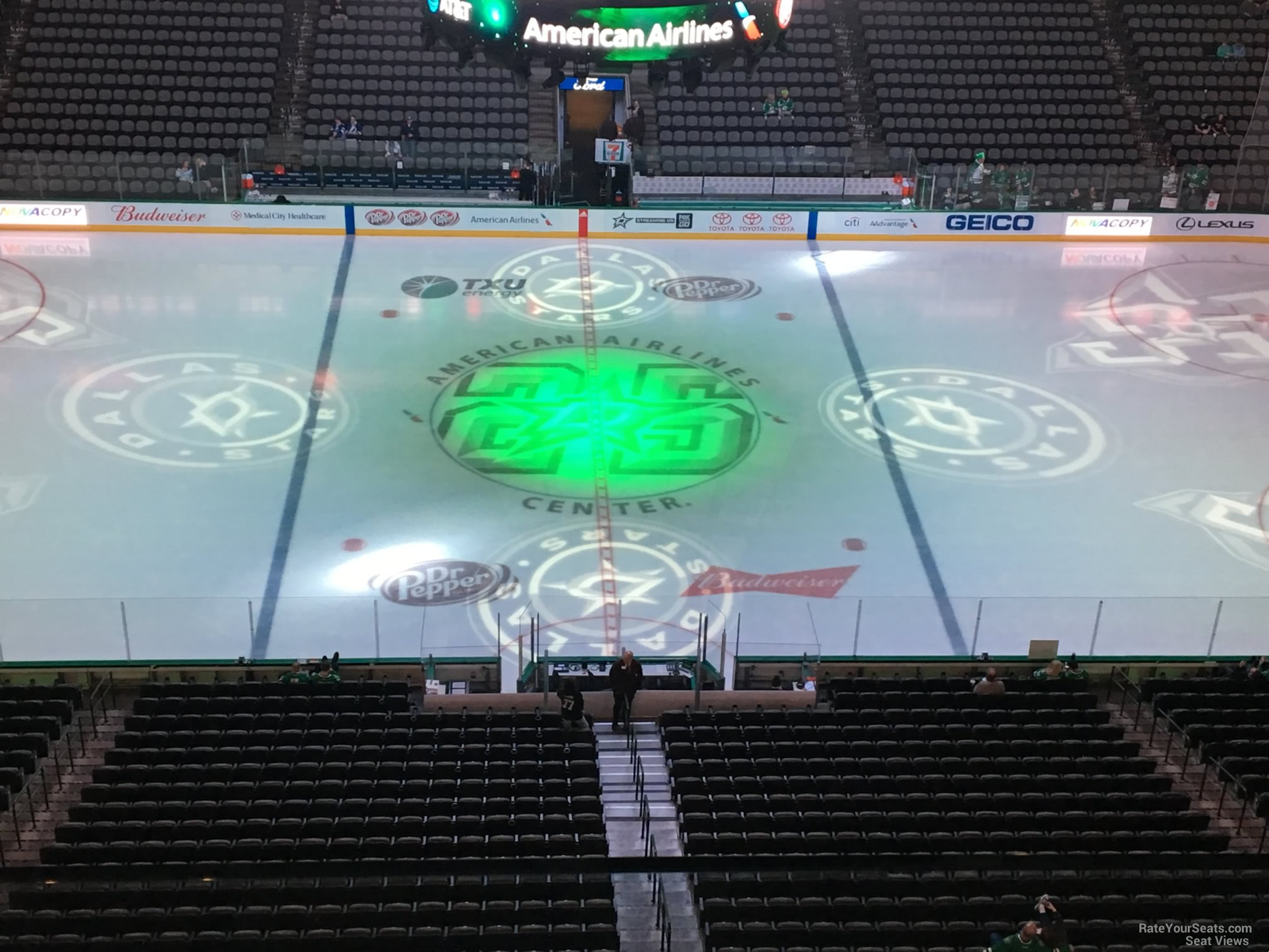Dallas Stars Seat View for American Airlines Center Section 310, Row D