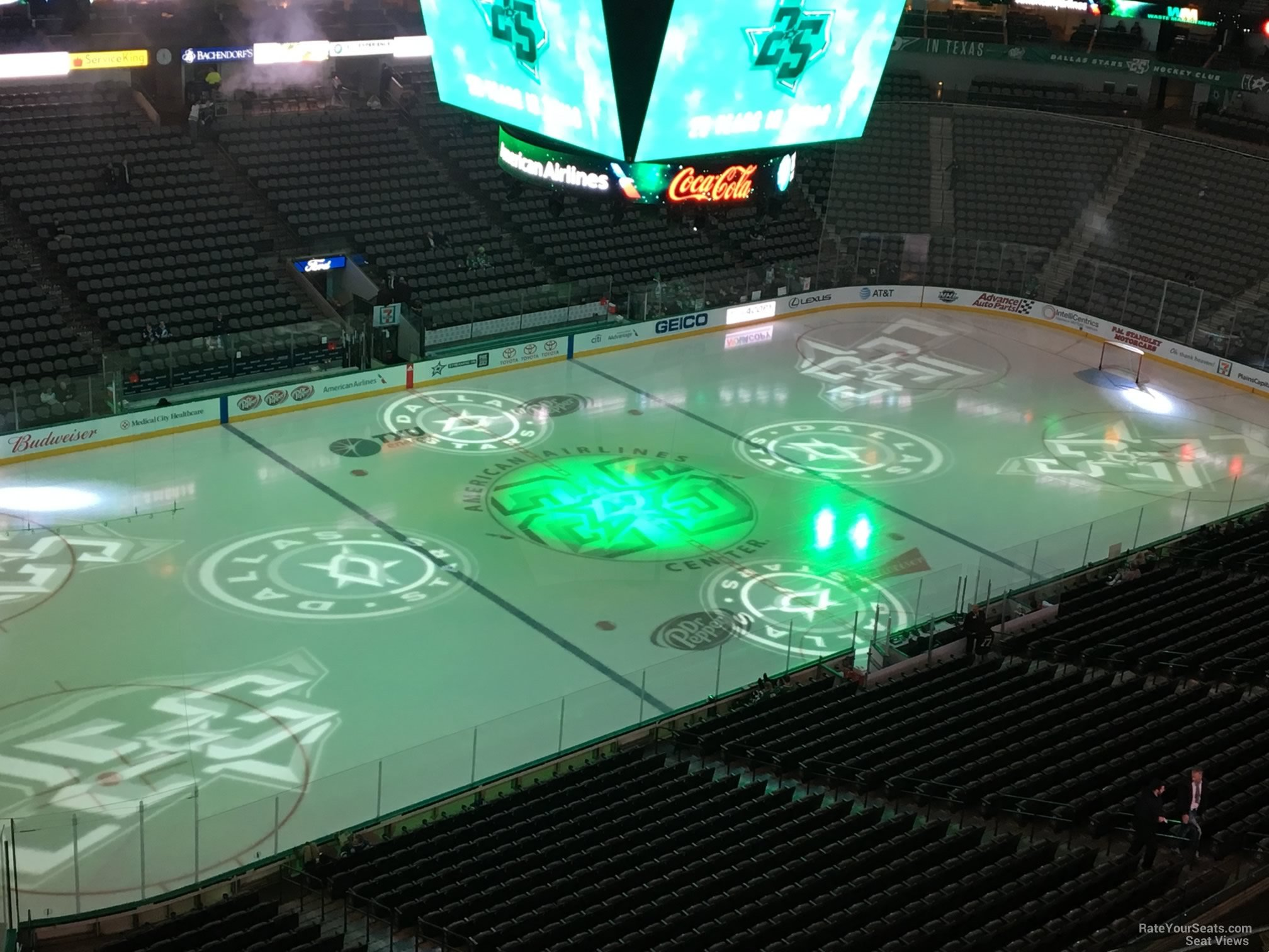 Dallas Stars Seat View for American Airlines Center Section 313, Row D