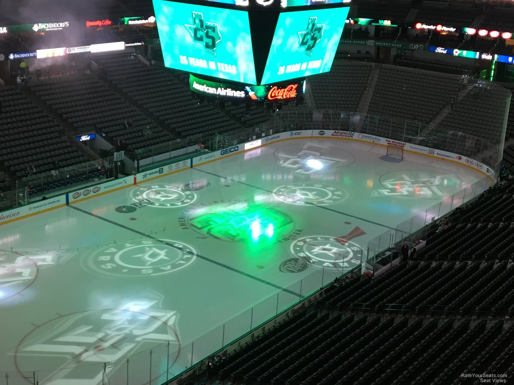Dallas Stars Seat View for American Airlines Center Section 314, Row D