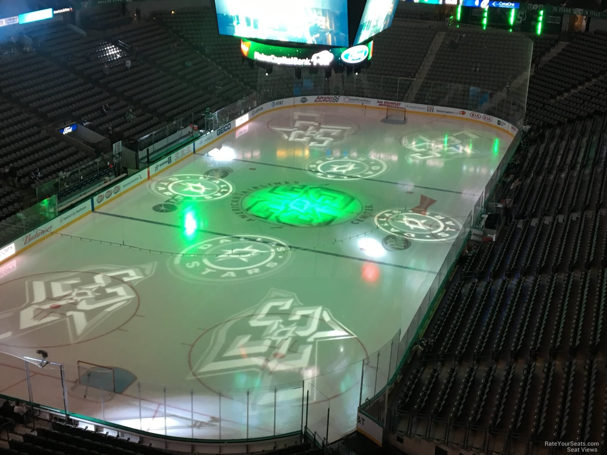 Dallas Stars Seat View for American Airlines Center Section 316, Row E