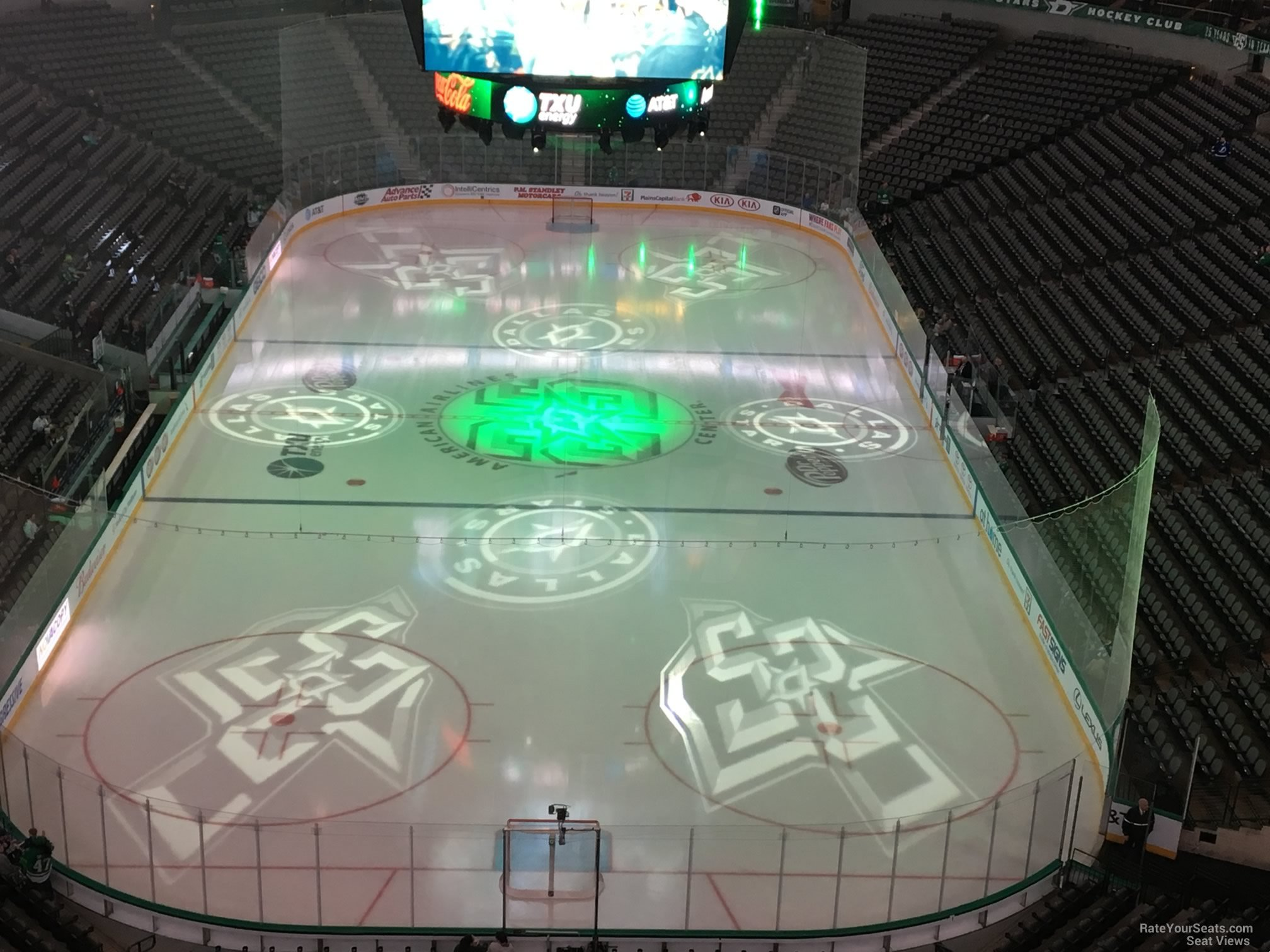 Dallas Stars Seat View for American Airlines Center Section 318, Row E