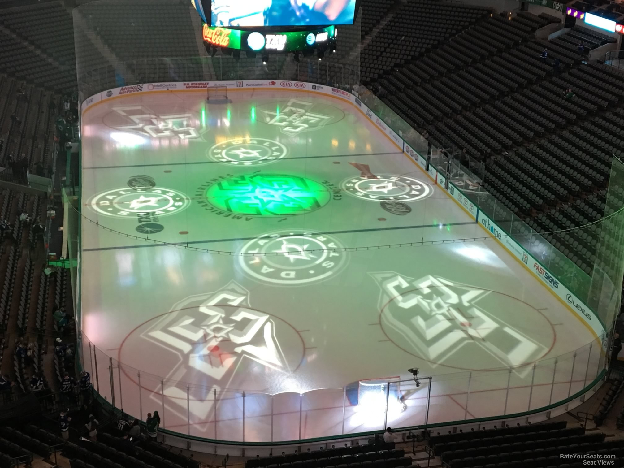 Dallas Stars Seat View for American Airlines Center Section 319, Row E
