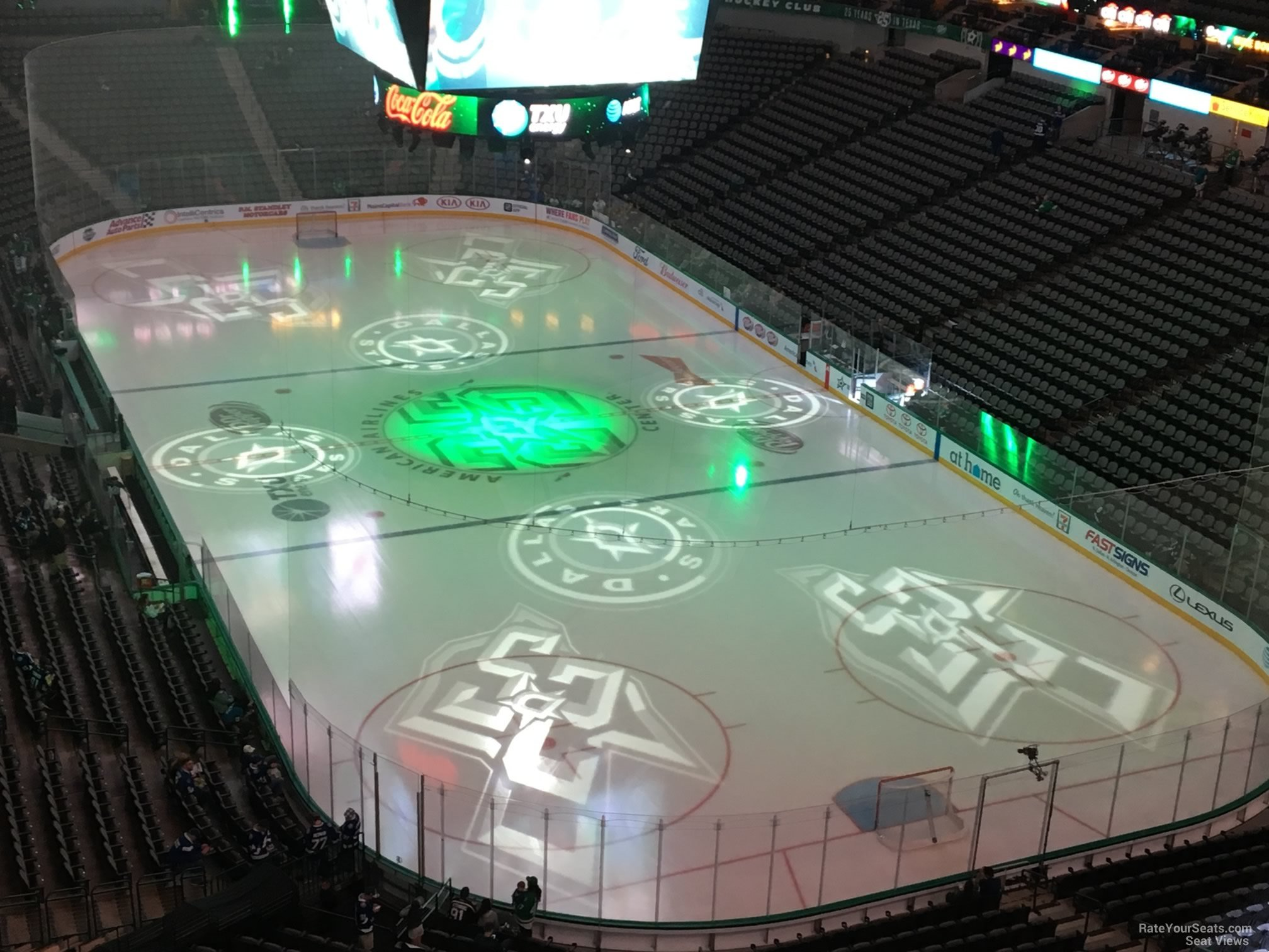 Dallas Stars Seat View for American Airlines Center Section 320, Row E
